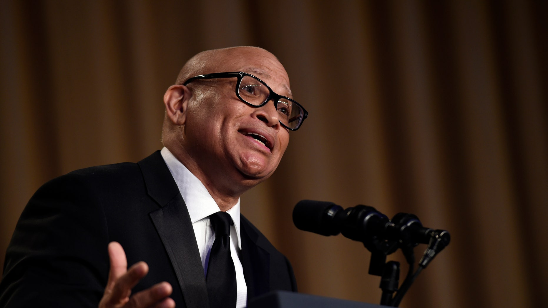 In this April 30, 2016 file photo, Larry Wilmore speaks at the annual White House Correspondents' Association dinner in Washington.