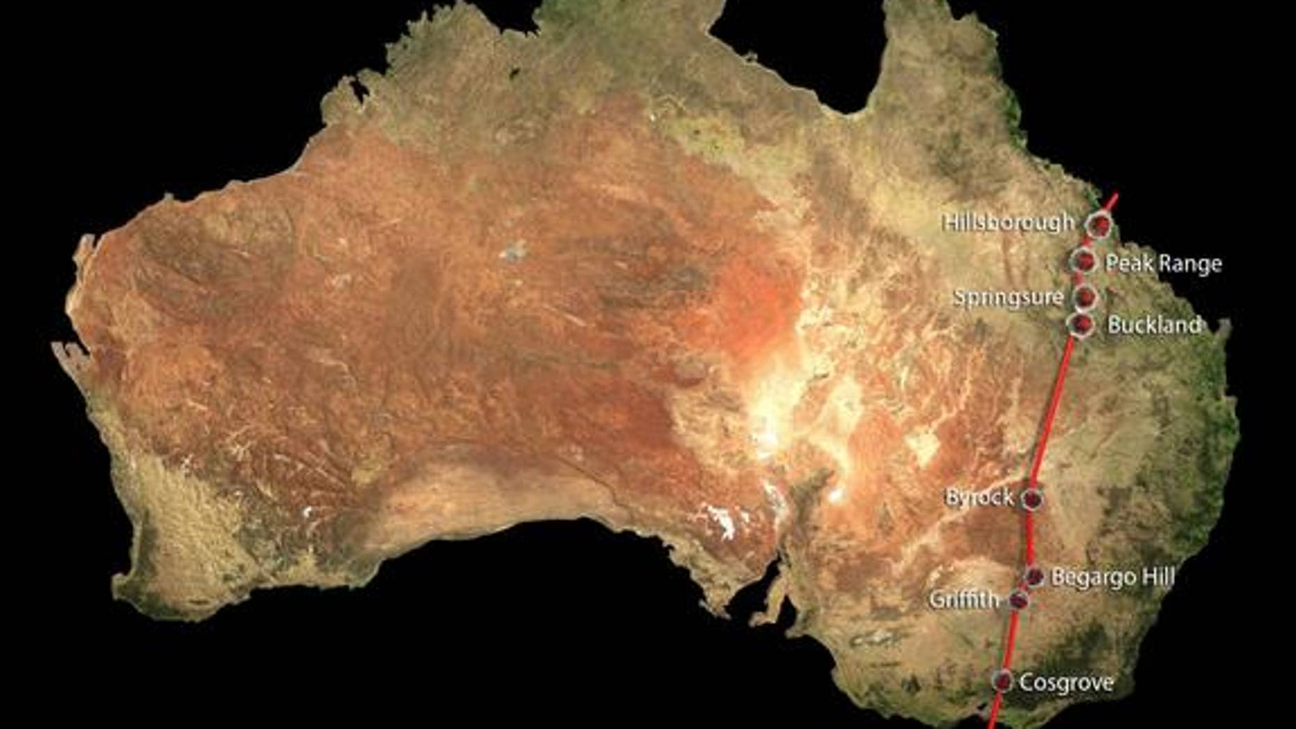 Scientists recently realized that separate chains of volcanic activity in Australia were actually caused by a single hotsput lurking under the Earth's lithosphere. The new superchain, called the Cosgrove Volcanic Track, spans 1,240 miles.