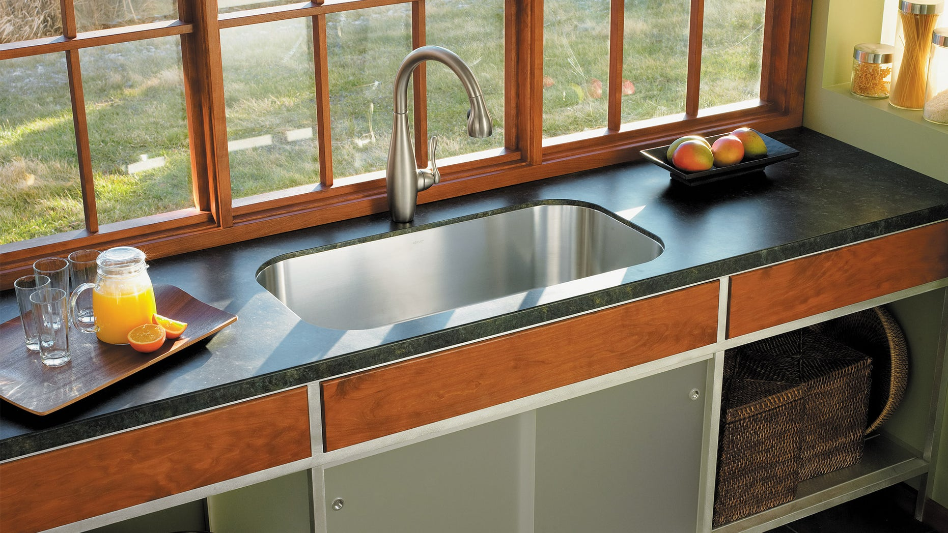 Kohler Undertone extra-large, single-basin undercounter kitchen sink