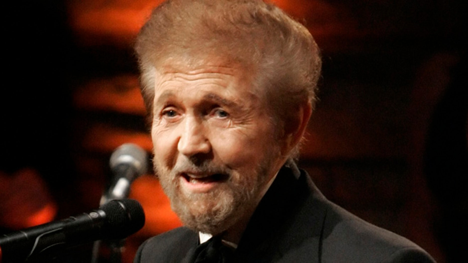 May 6, 2007: Inductee Sonny James is presented his medallion at the Country Music Hall of Fame in Nashville, Tenn.