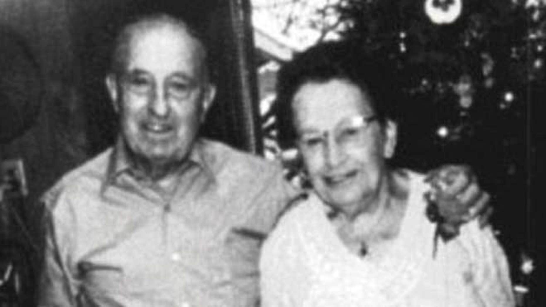 Edward Maurin and his wife Wilhelmina Maurin.