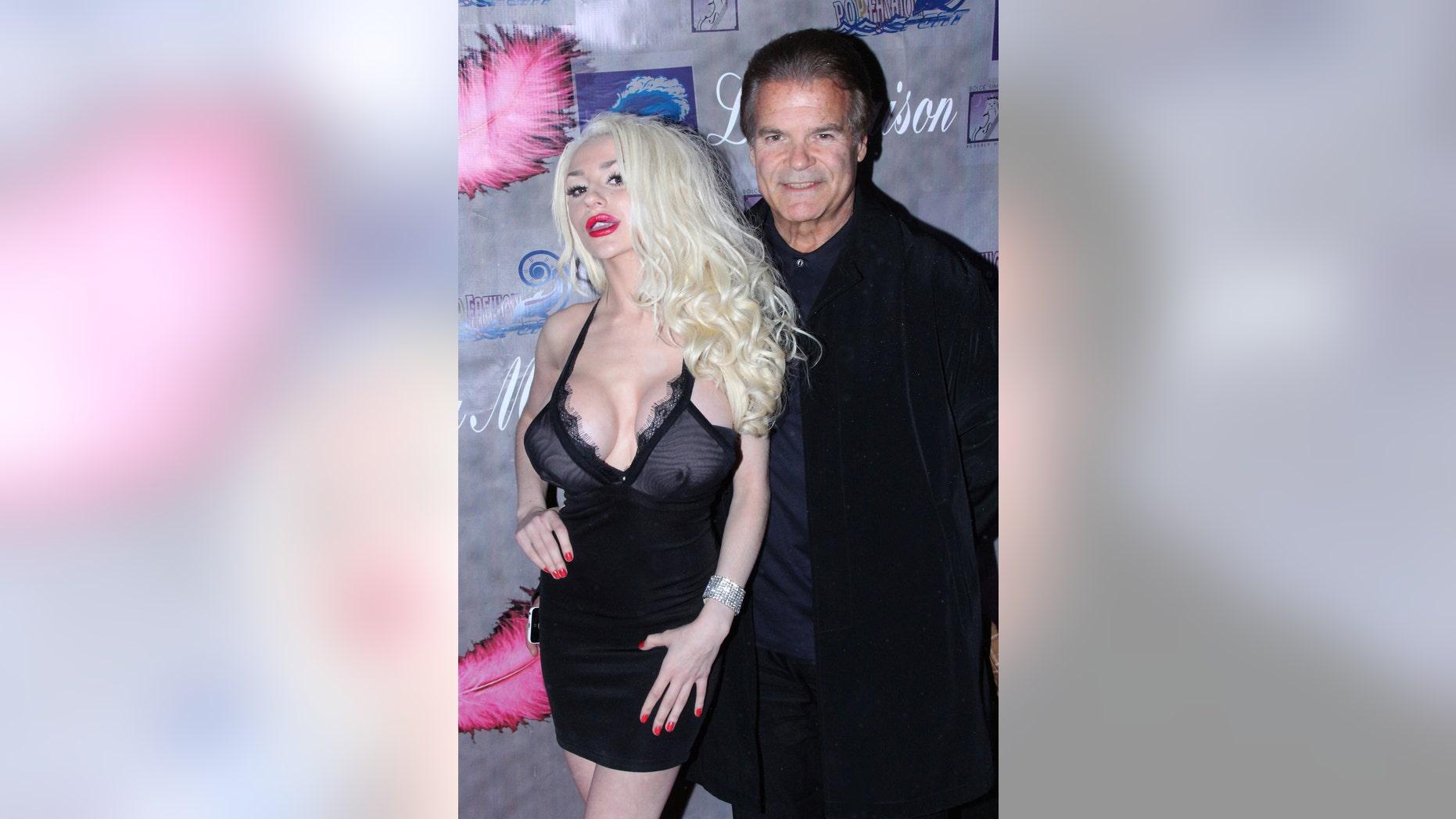 Courtney Stodden is shown at Studio City, Calif.,  with Edward Lozzi on Nov. 21, 2013.