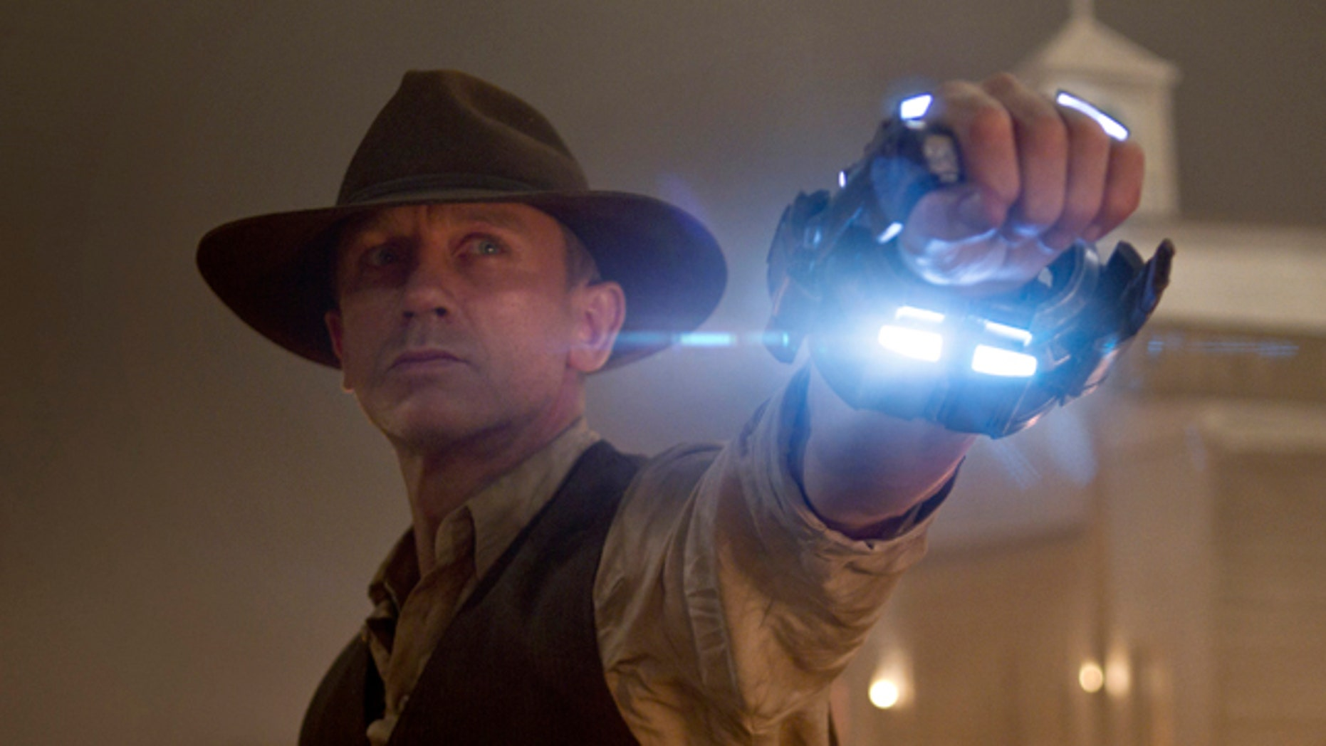 "Daniel Craig is shown in a scene from ""Cowboys & Aliens"""