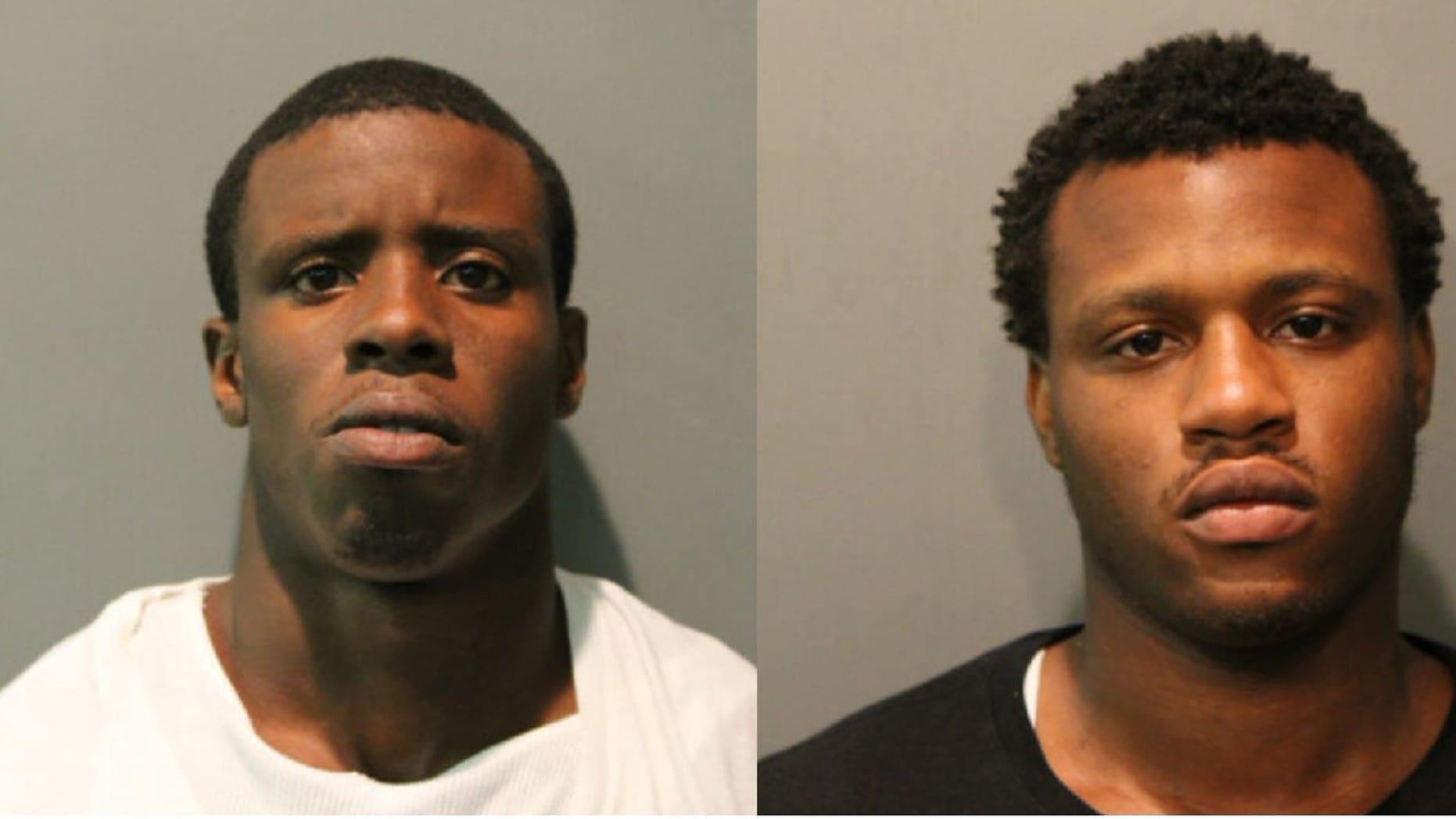 Darwin Sorrells Jr., left, and Derren Sorrells, right, were charged in Nykea Aldridge's death.