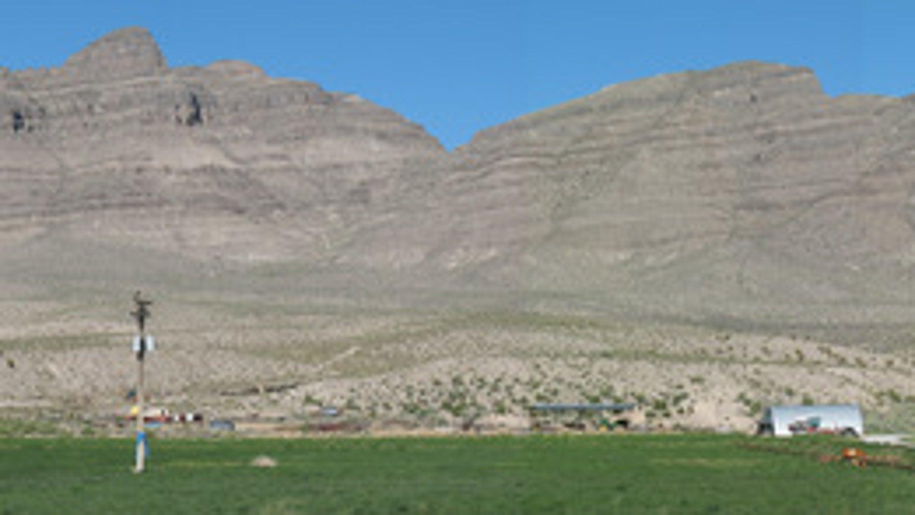 Alamo impact crater rocks exposed near Hiko, Nevada.