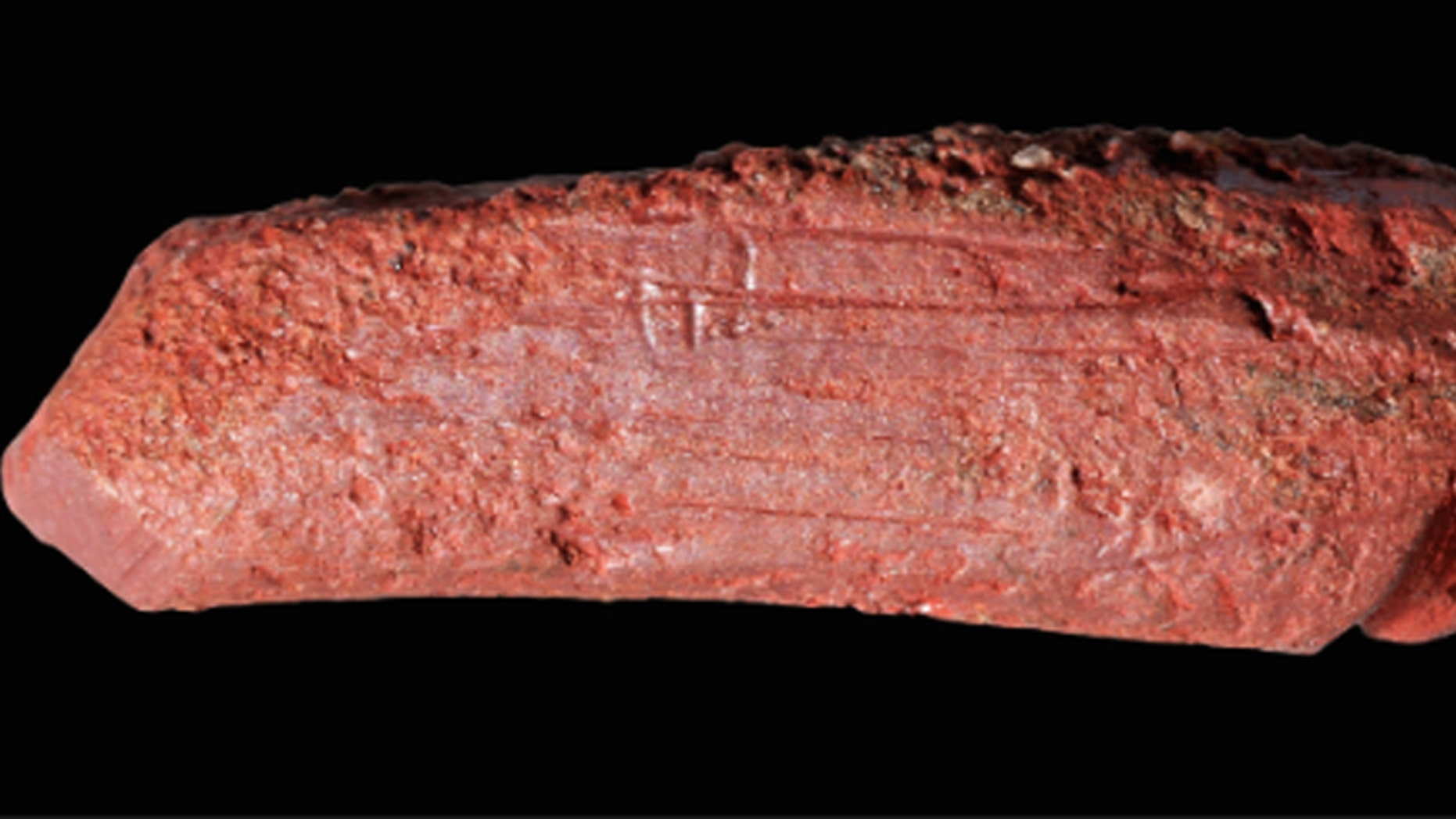 The crayon revealed a sharpened end. (Credit: Paul Shields/University of York)