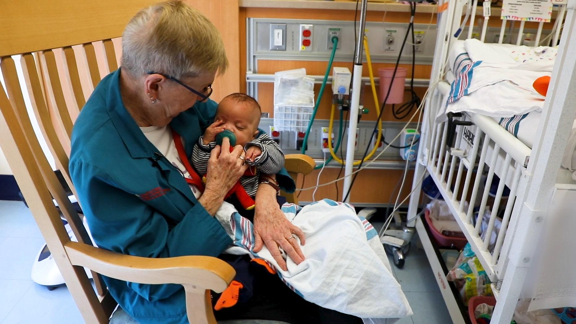Grandma Cuddler' soothes NICU babies at New York hospital