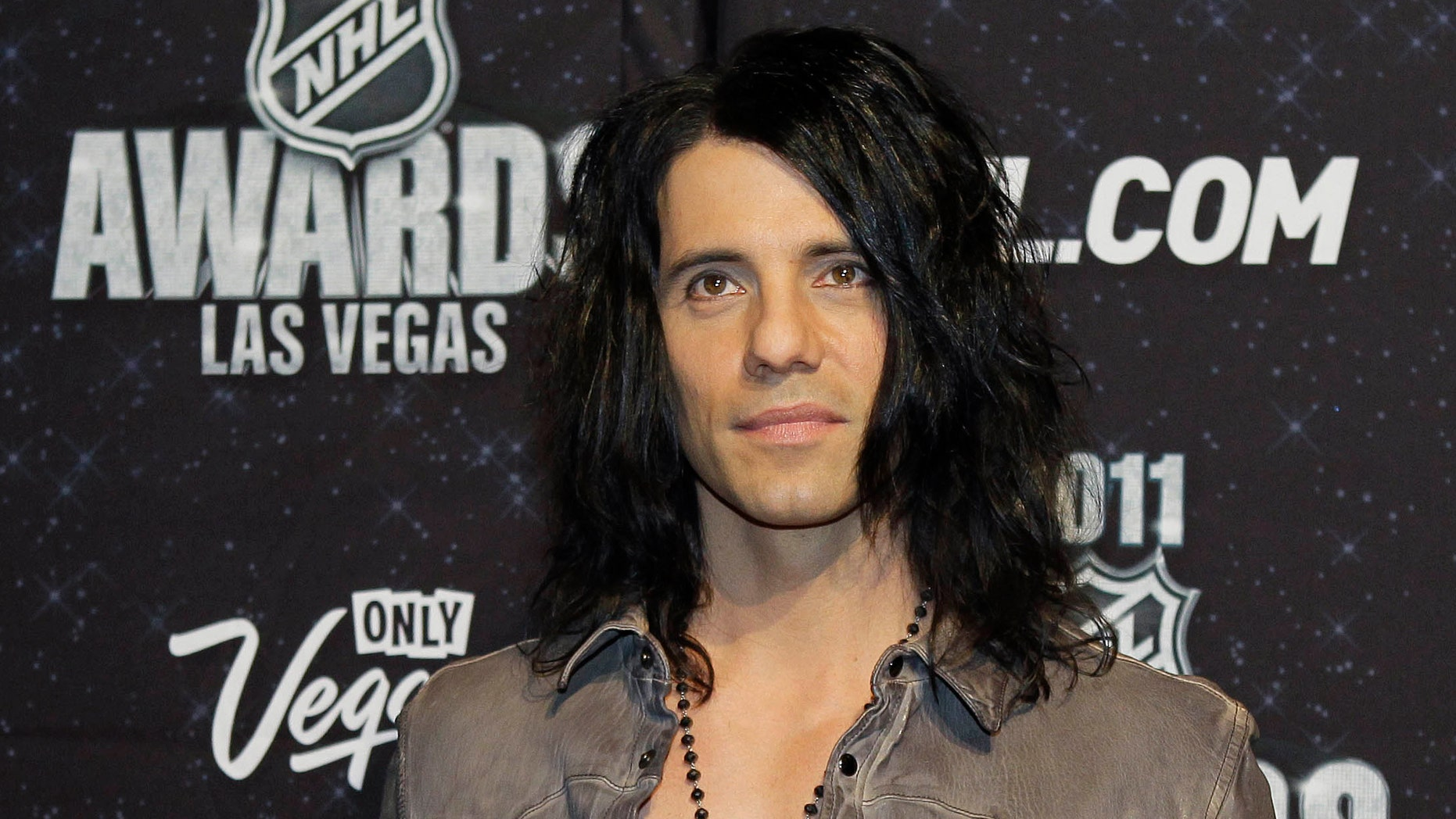 June 22, 2011. Criss Angel appears on the red carpet before the 2011 NHL Awards, in Las Vegas.