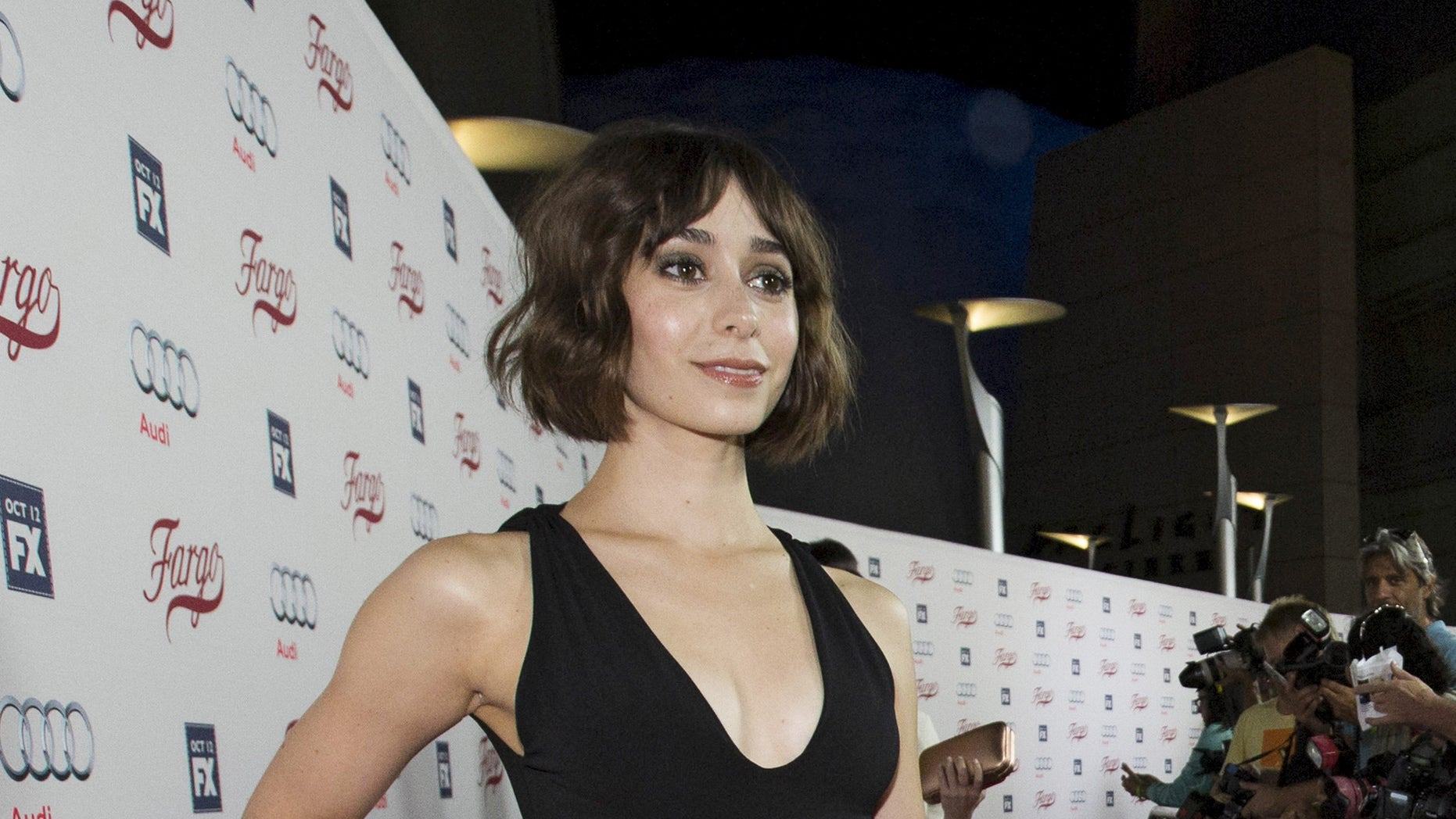 "Cast member Cristin Milioti poses at a screening of FX Networks' television series ""Fargo"" in Los Angeles, California October 7, 2015.  REUTERS/Mario Anzuoni - RTS3HU9"