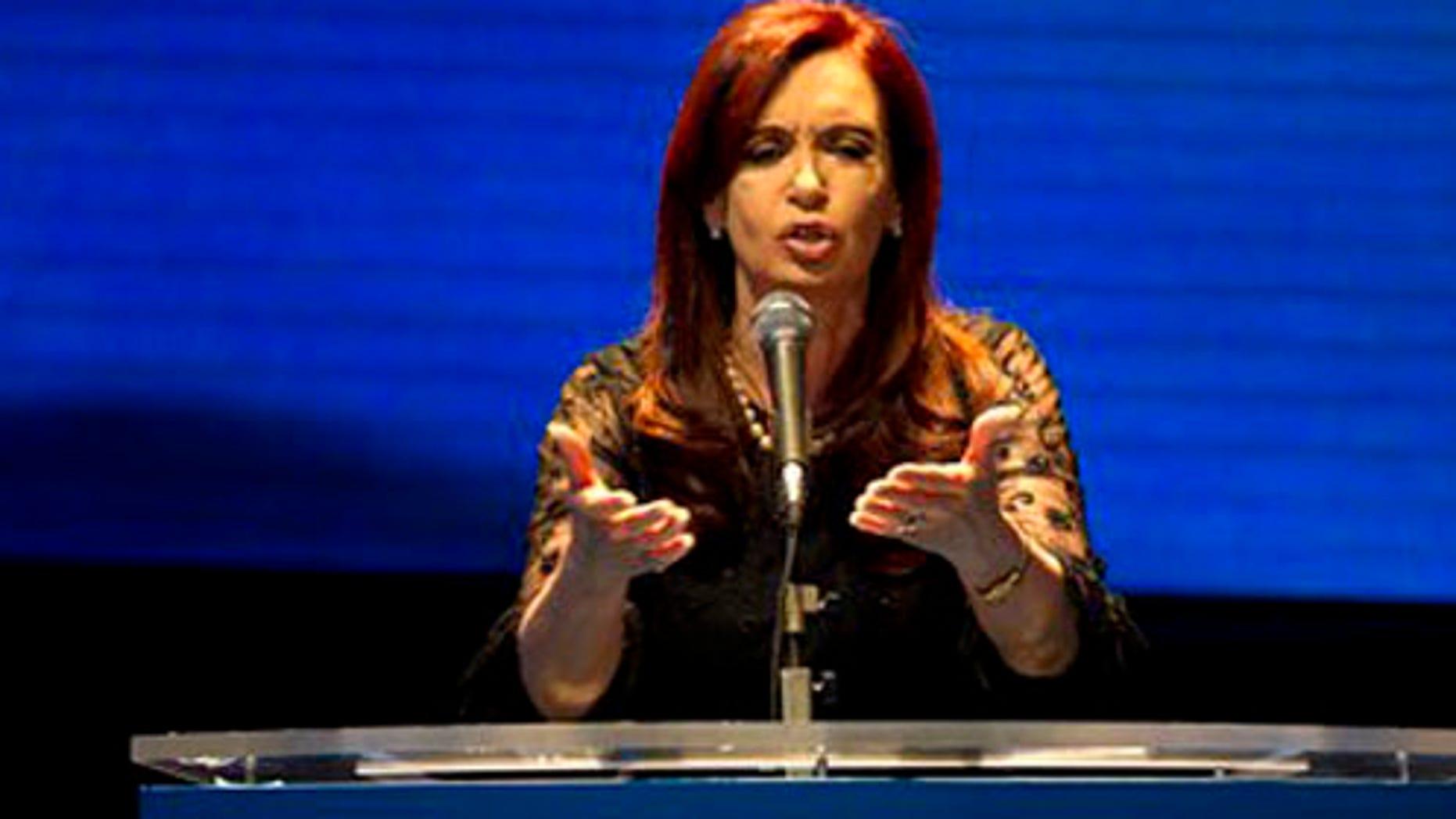 Argentinian President Cristina Fernández de Kirchner. (Photo: AP)