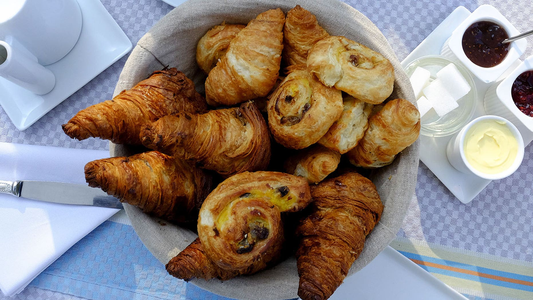 Rising costs of butter in France could threaten the production of croissants