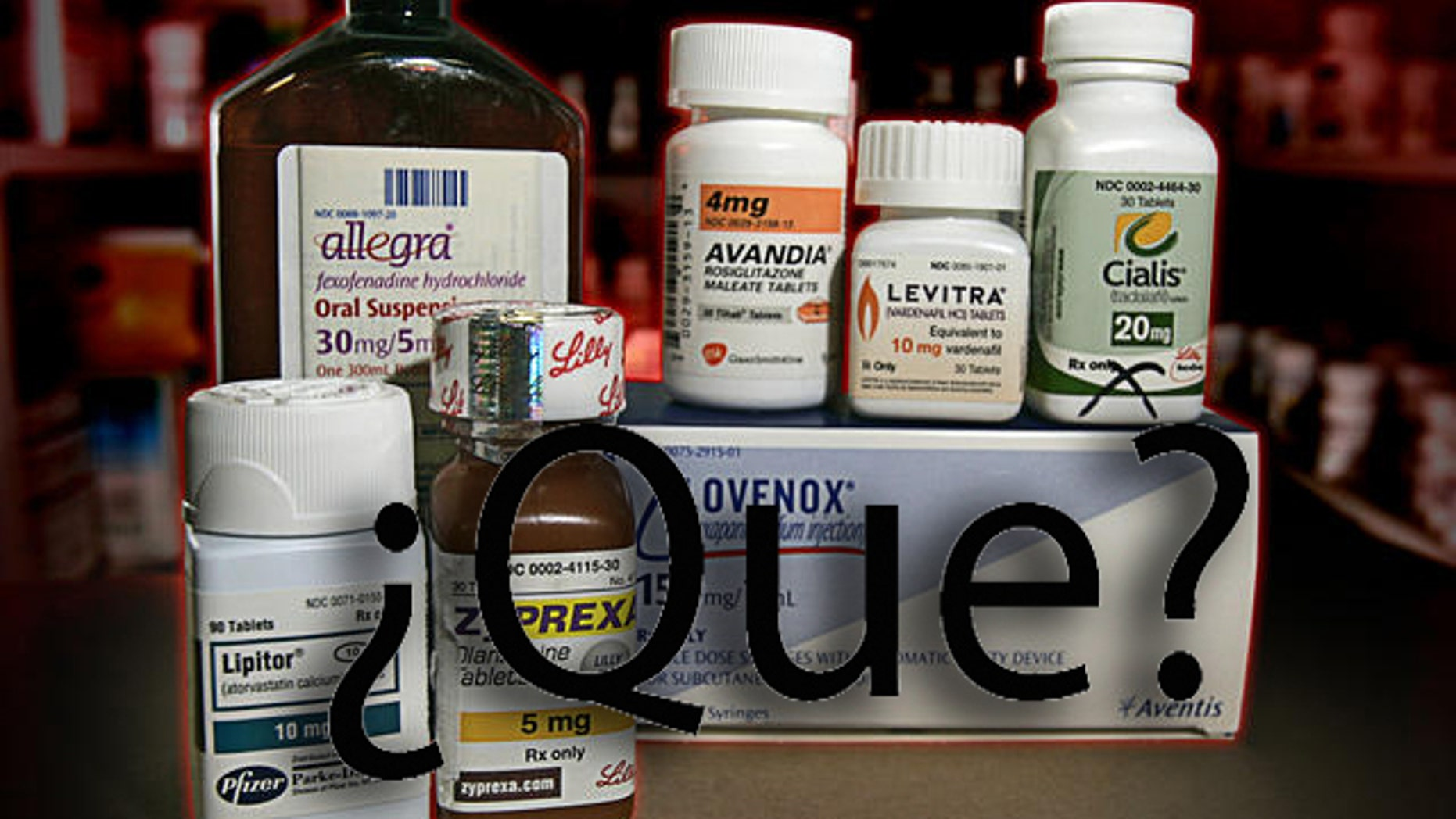 A selection of prescription drugs, including Allegra, Zyprexa, Levitra, Cialis and Lipitor are shown in an Indianapolis pharmacy, Wednesday, Jan. 9, 2008. Drug companies often delve into a weird science that ties symbolism to letters or prefixes when they hunt for the next hot brand name. They spend millions to drum up a well-known name like Lipitor while hoping to avoid the fate of Ayds, an unfortunately named appetite suppressant that saw sales sink once AIDS entered the public consciousness. (AP Photo/Michael Conroy)
