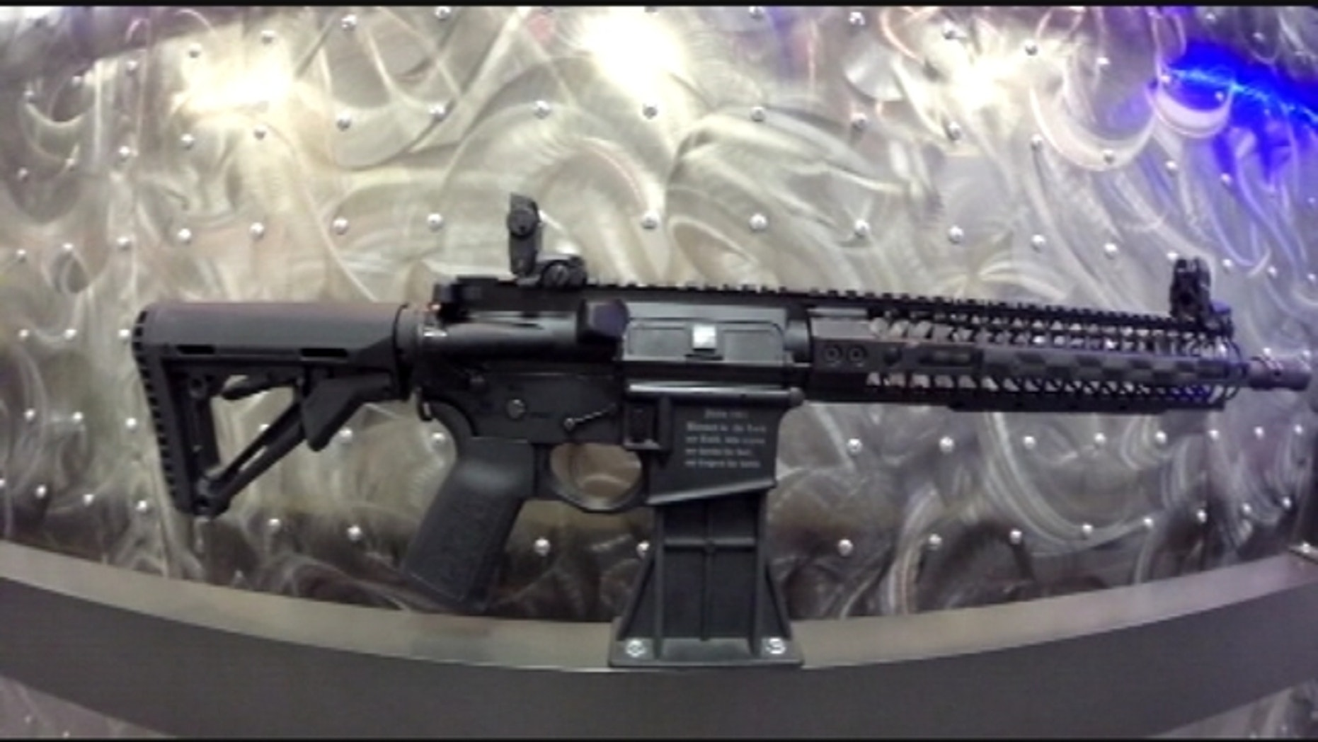 Photo shows the new Crusader AR-15 weapon from Spike's Tactical.(WOFL-TV)