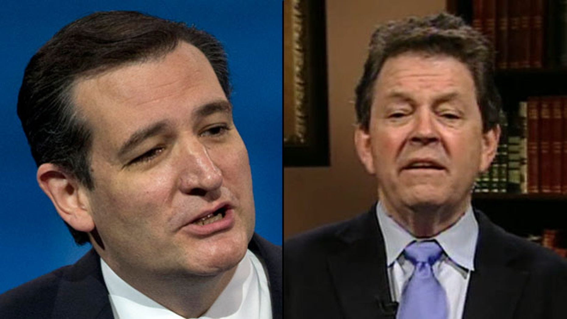 Shown here are Sen. Ted Cruz, R-Texas, left, and economist Art Laffer.