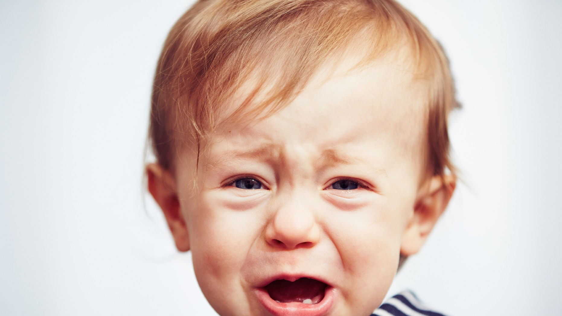 Little boy is crying - selective focus
