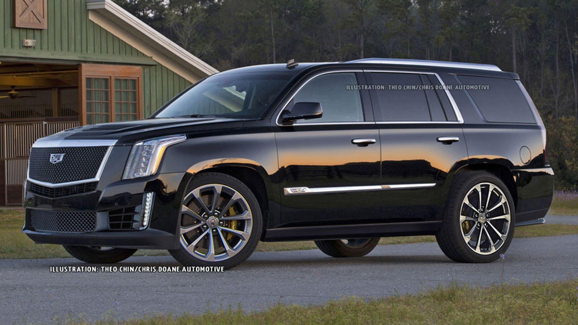 Speculative rendering of Cadillac Escalade-V