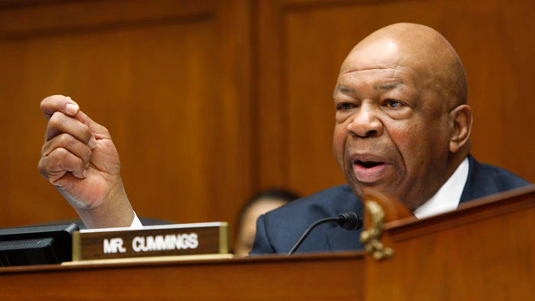 Jan. 16, 2014: Rep. Elijah Cummings speaks on Capitol Hill.