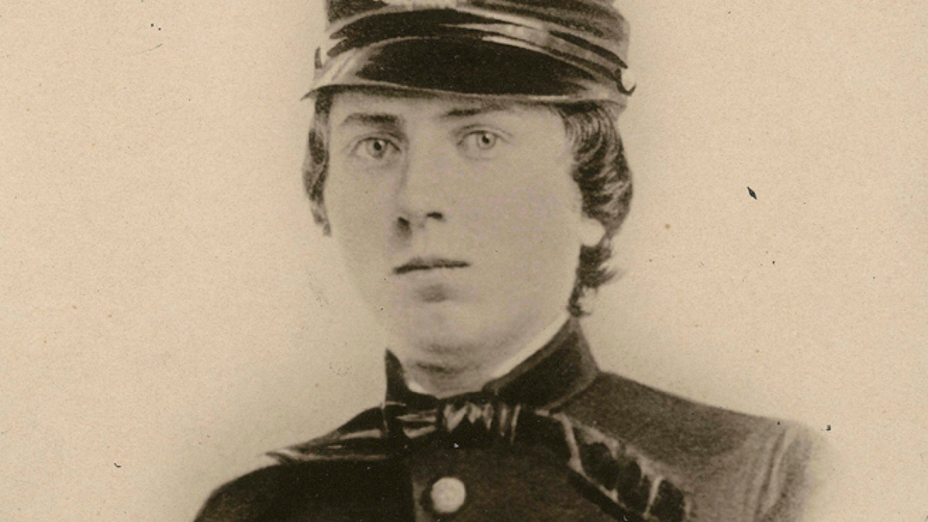 First Lt. Alonzo Cushing is shown in an undated photo provided by the Wisconsin Historical Society. (AP/Wisconsin Historical Society)