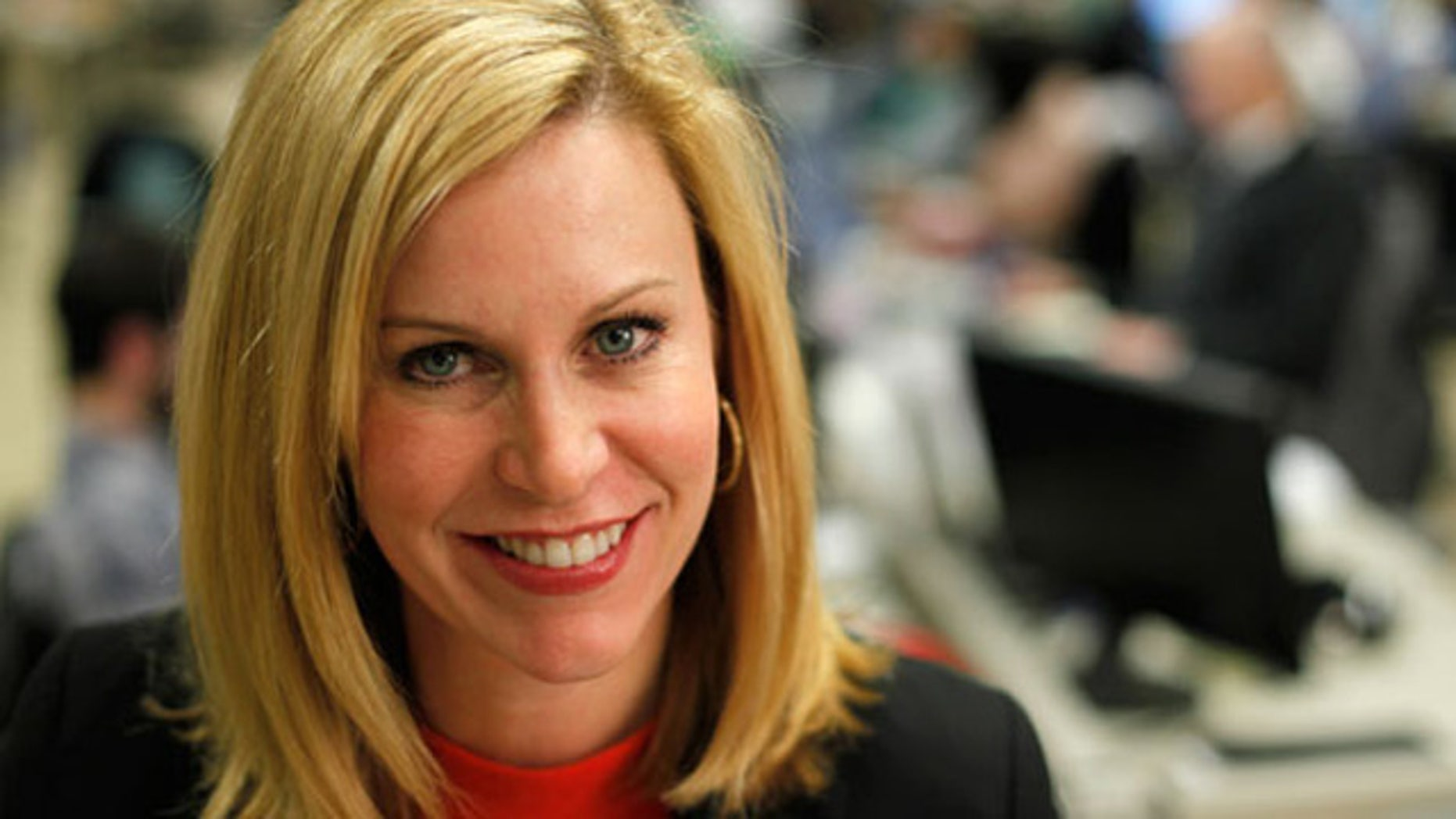 Shown here is Obama Deputy Campaign Manager Stephanie Cutter.