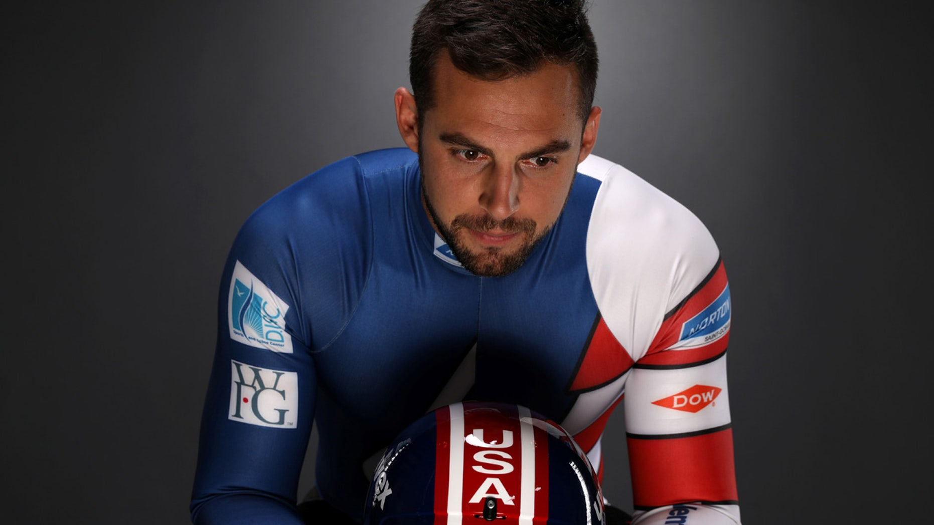 FILE 2017: Luge racer Chris Mazdzer poses for a portrait at the U.S. Olympic Committee Media Summit in Park City