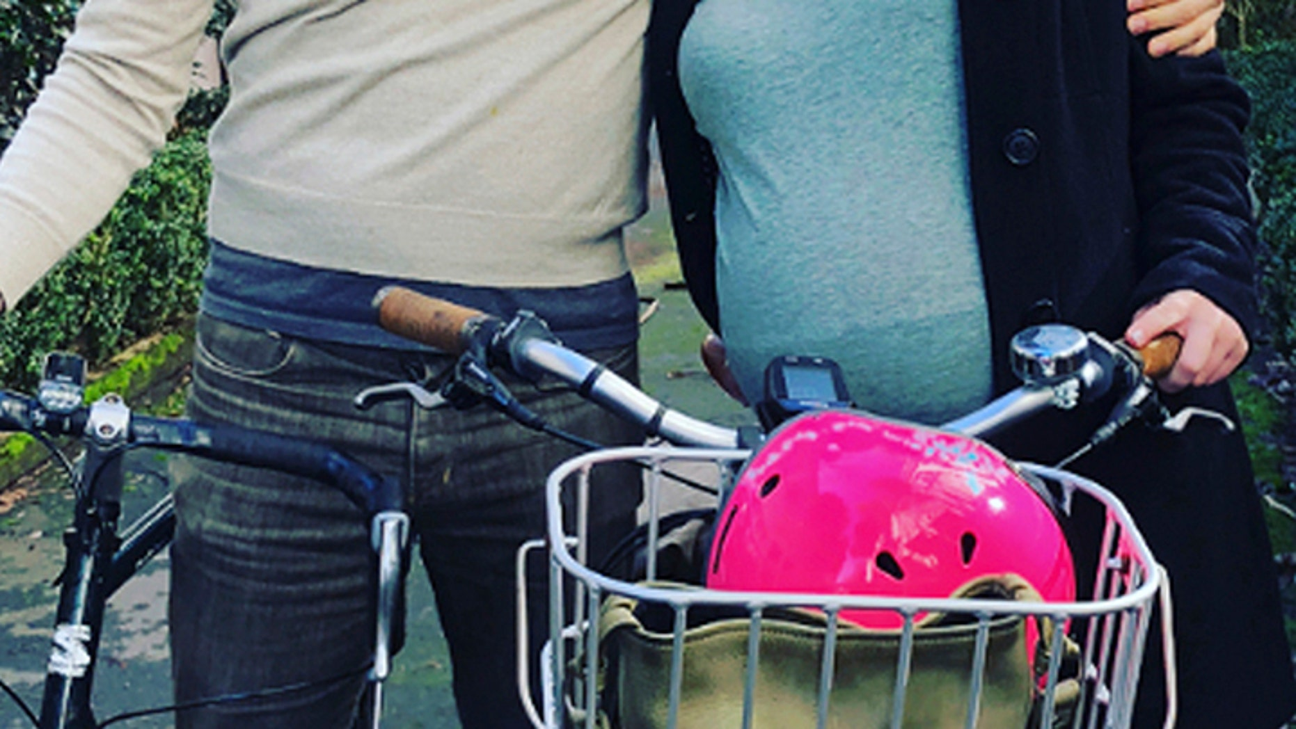 Genter said after 42 weeks of pregnancy she decided to ride to a hospital on her electric bicycle because it was a beautiful morning and there wasn't enough room in the car for her support crew.