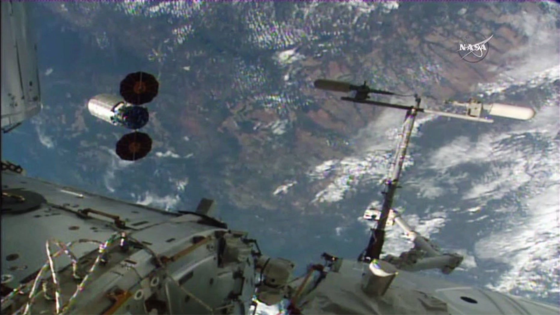 The Orbital ATK Cygnus spacecraft S.S. Rick Husband departs the International Space Station on June 14, 2016 to end its delivery mission. NASA will light the largest fire ever set in space inside the spacecraft in an expe