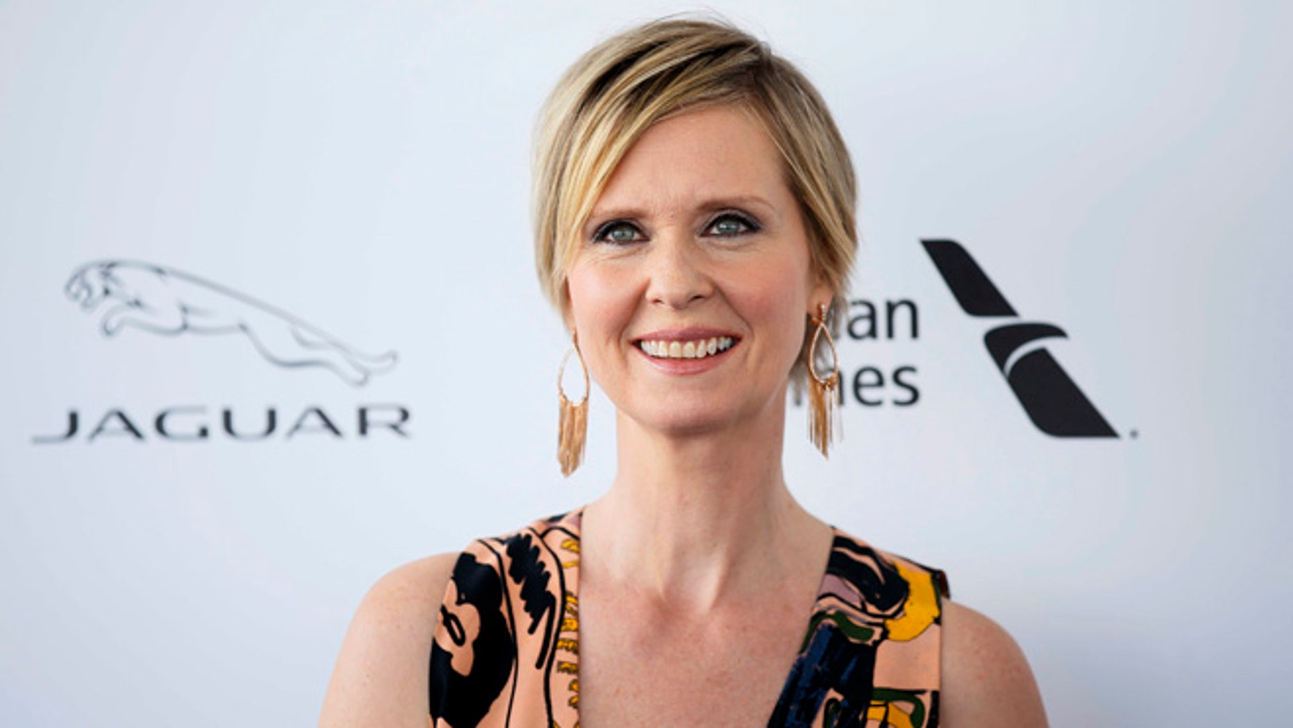 Cynthia Nixon says she's afraid under a Donald Trump government.