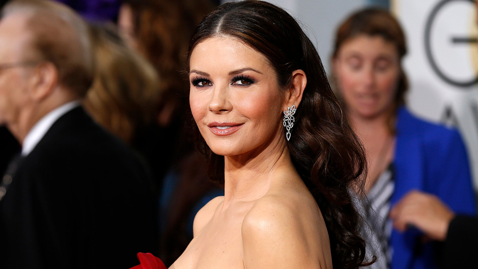 "Zeta-Jones, here in a 2015 file photo, said her husband is ""110 percent"" in support of the movement against sexual harassment."