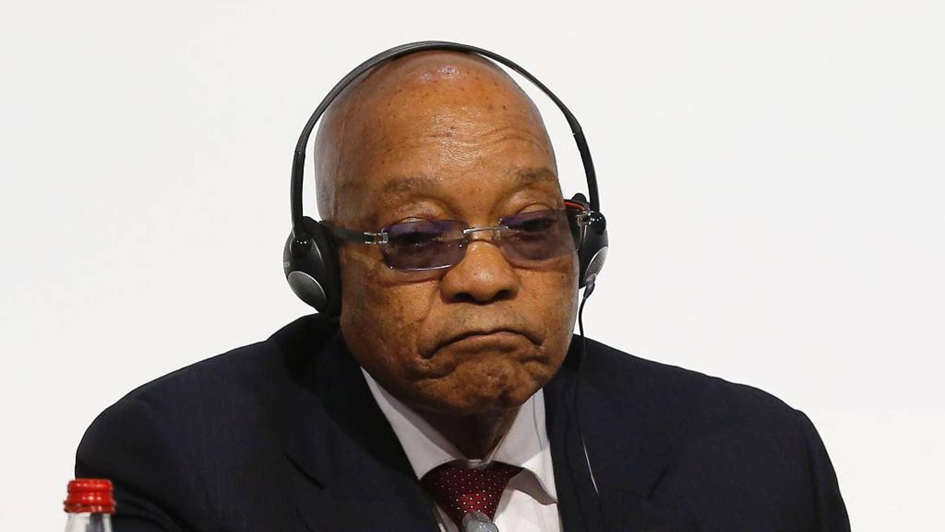 South African President Jacob Zuma in November.