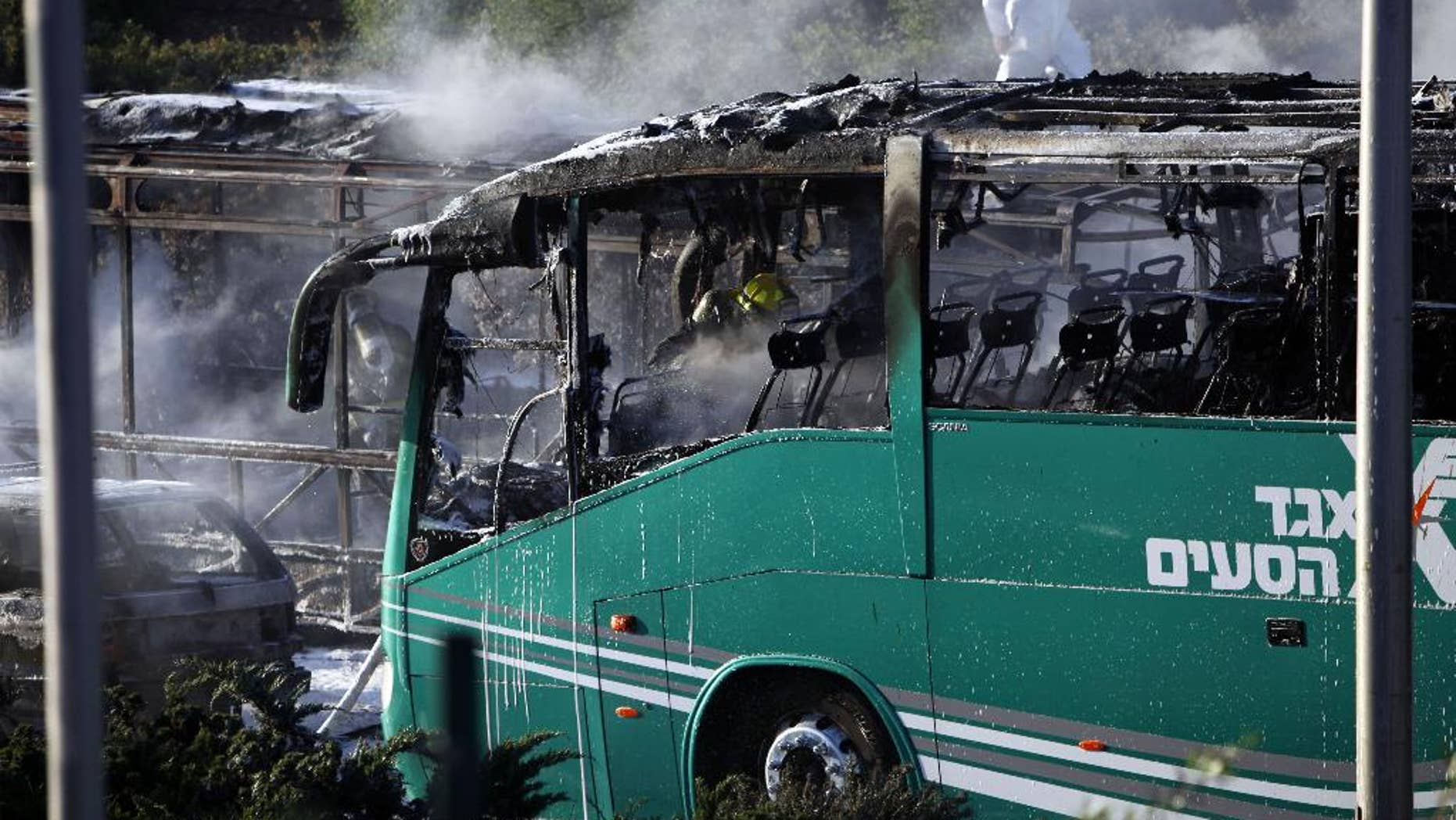 A bus exploded in the heart of Jerusalem Monday, wounding nearly 20 people.