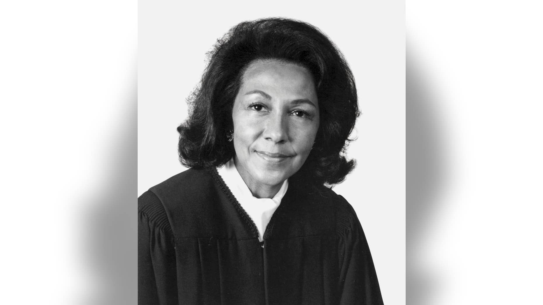 """This 1989 photo provided by Southwestern Law School shows Vaino Spencer, the first female black judge in California and one of the longest-serving jurists in state history. Spencer died of natural causes on Oct. 25, 2016, at the age of 96, her family said. Spencer's niece, Fatimah Gilliam, describes Spencer as """"a trailblazer and a self-made woman in an era when there were few opportunities for women and people of color."""" (Southwestern Law School via AP)"""
