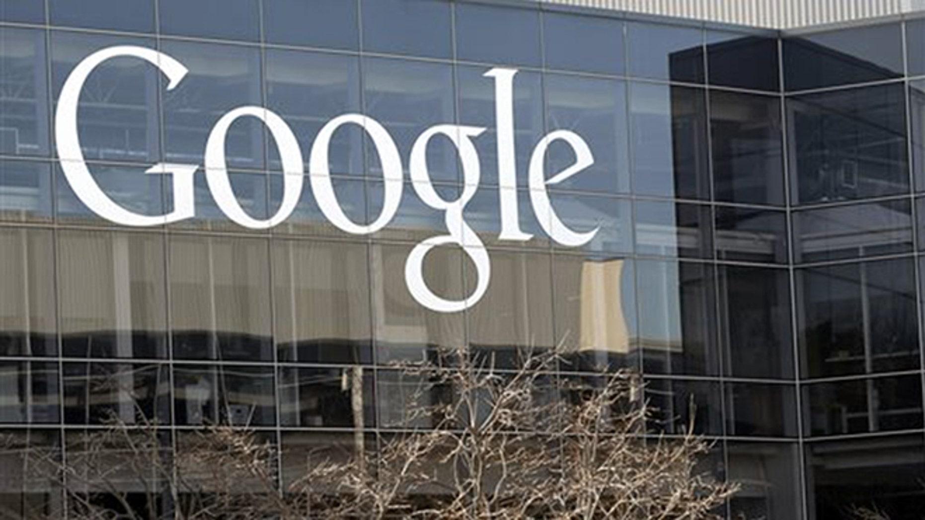FILE - This Thursday, Jan. 3, 2013, photo shows Google's headquarters in Mountain View, Calif. (AP Photo/Marcio Jose Sanchez, File)