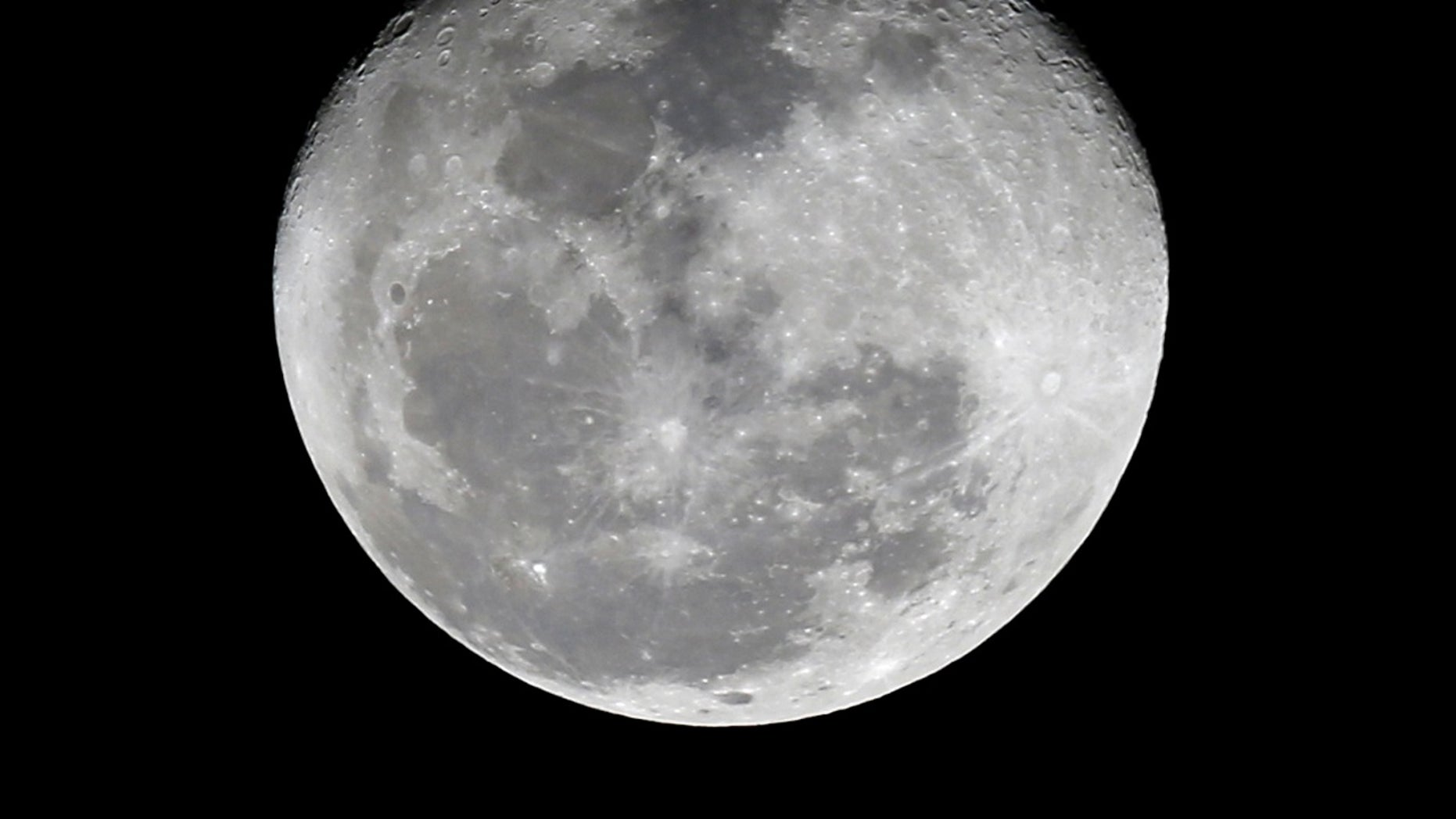 FILE -- A full moon is seen here.