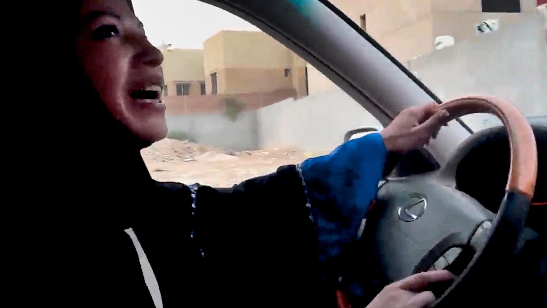 June 17, 2011: A Saudi Arabian woman drives a car as part of a campaign to defy Saudi Arabia's ban on women driving, in Riyadh, Saudi Arabia.