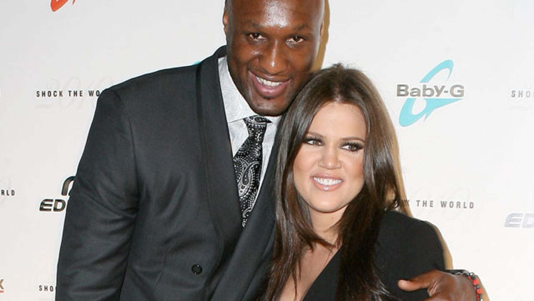 Lamar Odom and wife Khloe Kardashian. (X17 Online)