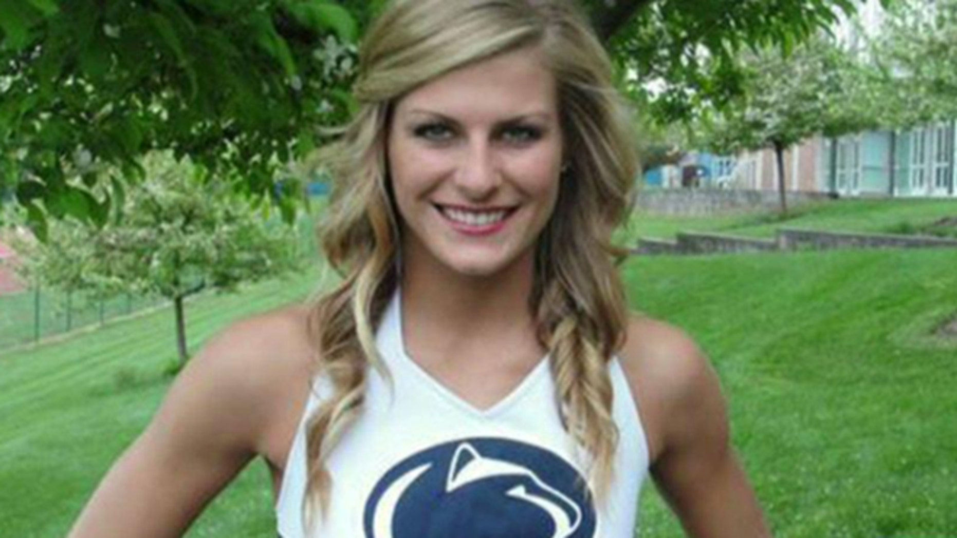 Paige Raque fell 39 feet from an apartment window during an off-campus party on Oct. 13, breaking her pelvis and suffering brain trauma. (Penn State Cheerleading)