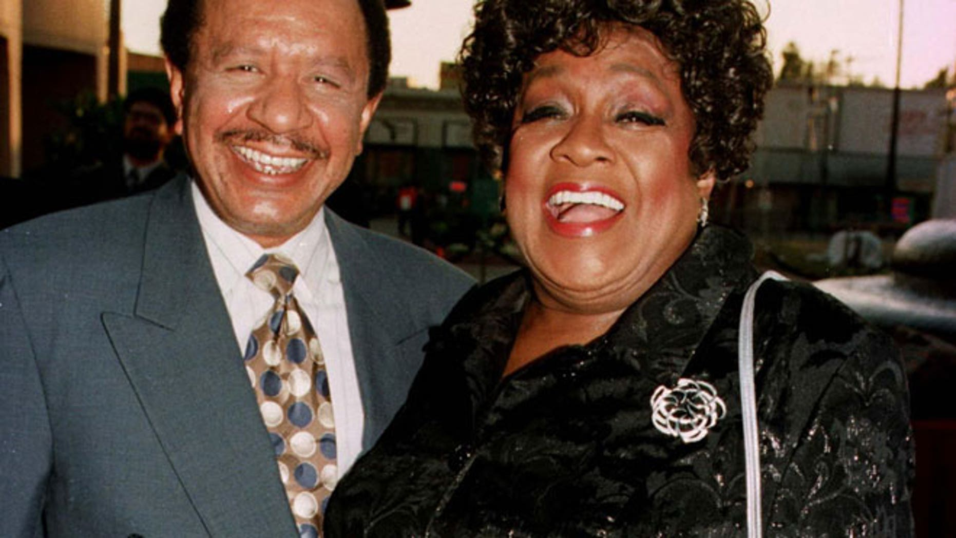 """Sherman Hemsley and his late """"Jeffersons"""" co-star,  Isabel Sanford."""