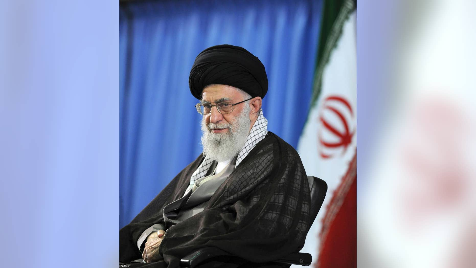 FILE - In this file picture released by the official website of the office of the Iranian supreme leader on Saturday, July 11, 2015, Supreme Leader Ayatollah Ali Khamenei attends a meeting with university students in Tehran, Iran. Khamenei is opposed to a landmark nuclear deal reached with world powers, prominent hard-liner Hossein Shariatmadari, editor of the daily newspaper Kayhan and a representative of Khamenei, claimed in an editorial Saturday, Aug. 15, 2015. (Office of the Iranian Supreme Leader via AP, File)