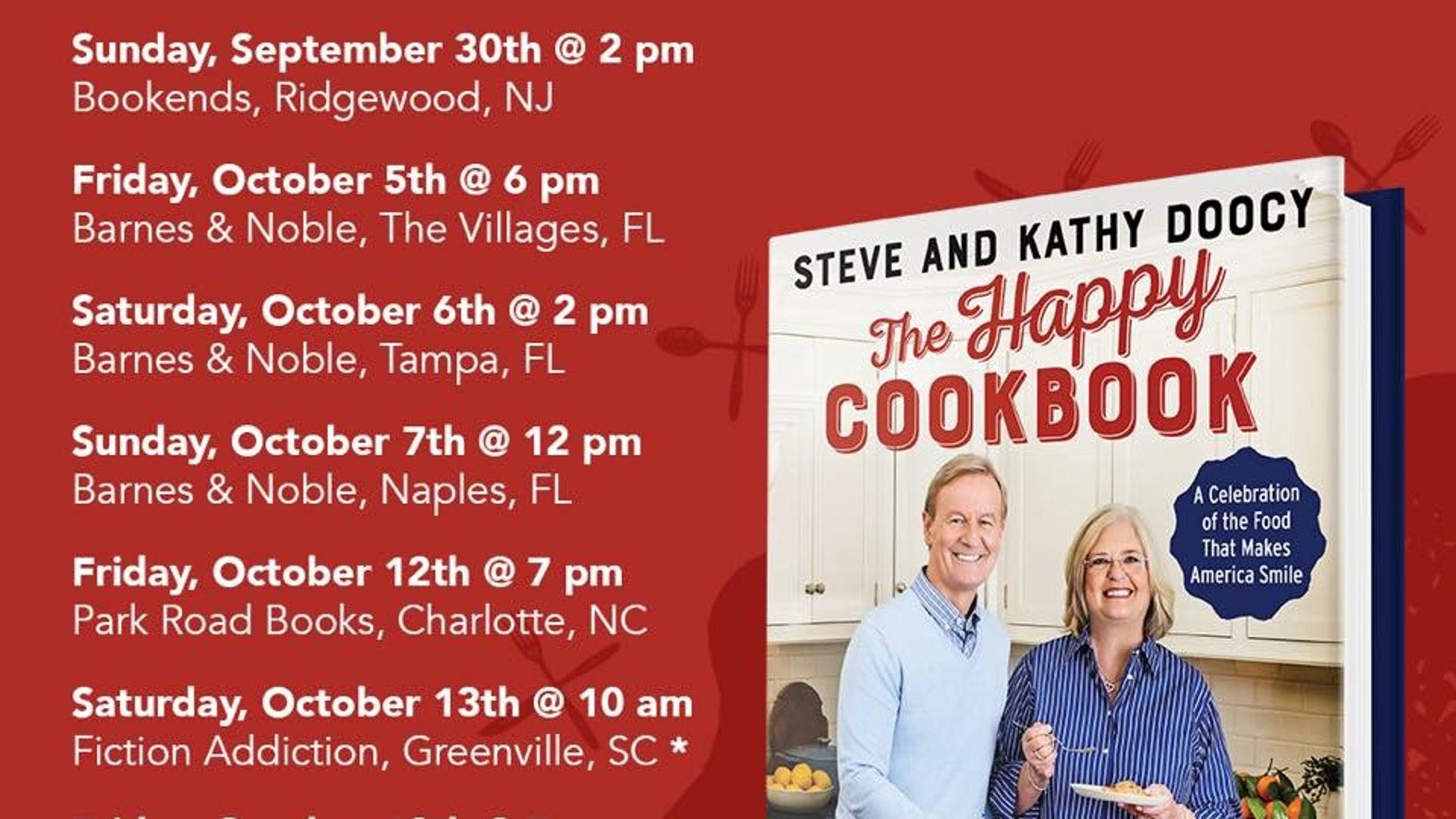 Meet Steve Kathy Doocy On The Happy Cookbook Tour Fox News