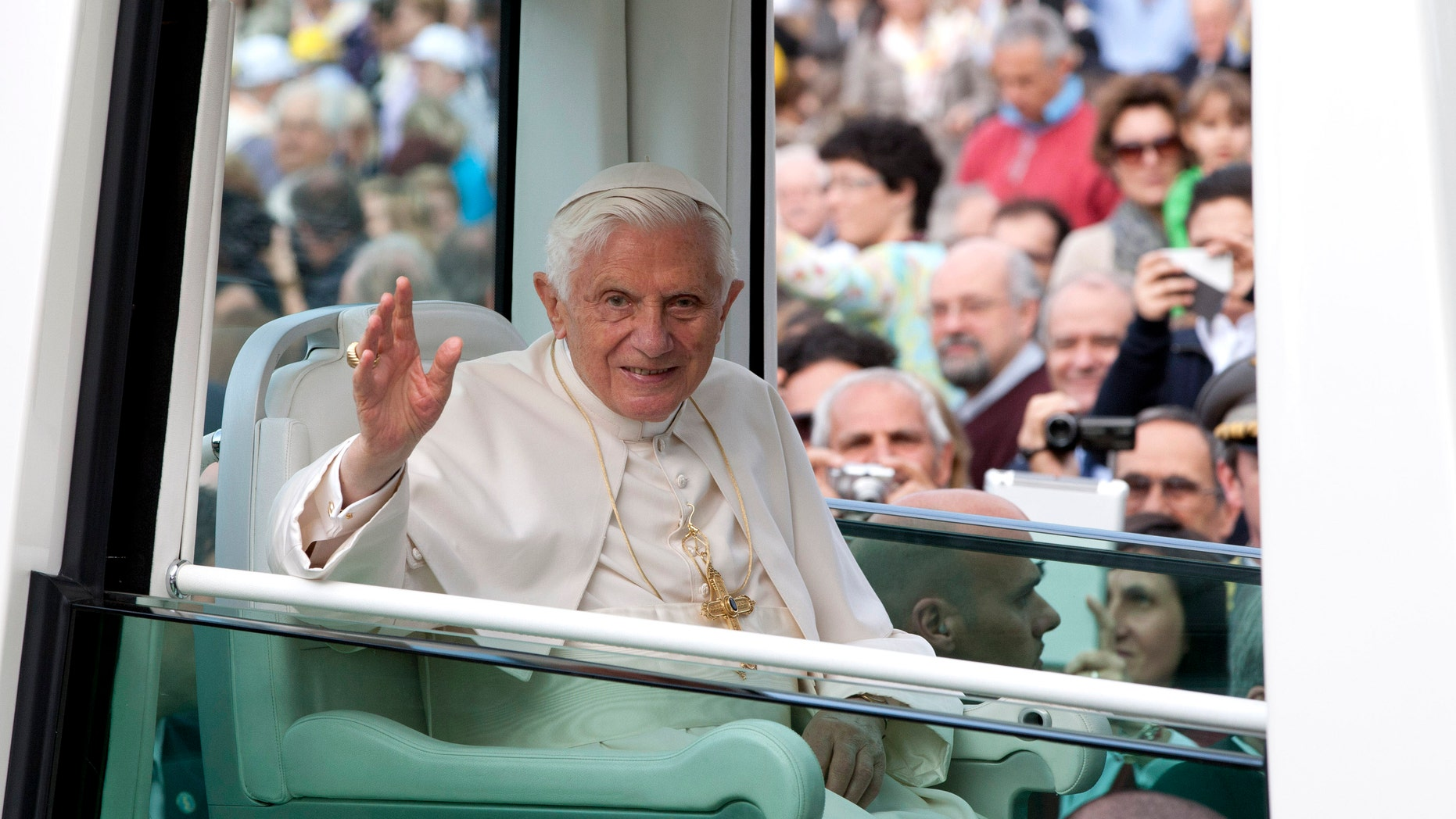 Pope Benedict XVI in a 2012 file photo.