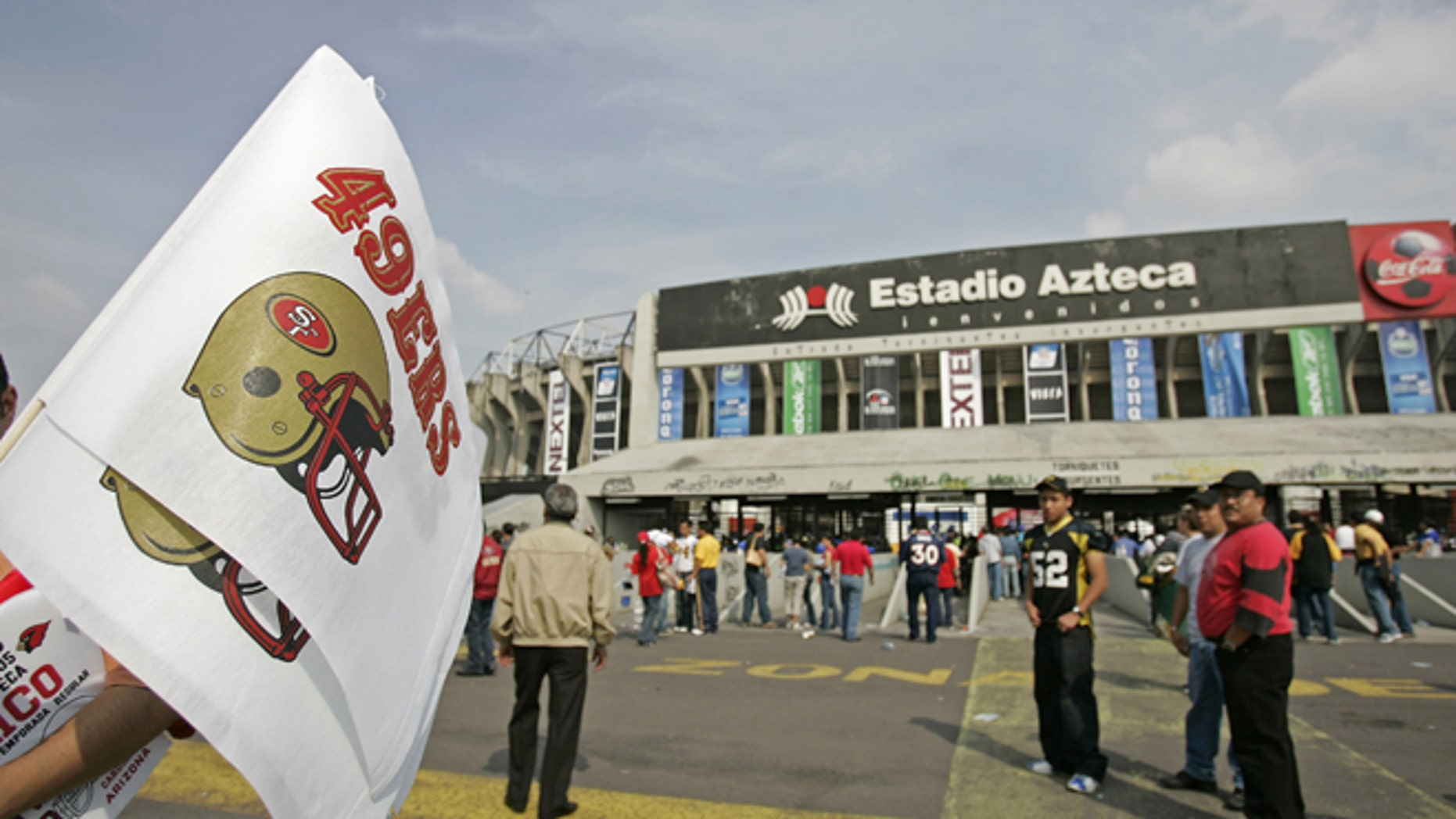 MEXICO CITY - OCTOBER 2:  Estadio Azteca stadium before a regular season NFL game between the Arizona Cardinals and the San Francisco 49ers at Estadio Azteca in Mexico City, Mexico on October 2, 2005. This is the first ever regular season game being played outside the United States. (Photo by Mike Ehrmann/Getty Images) *** Local Caption ***