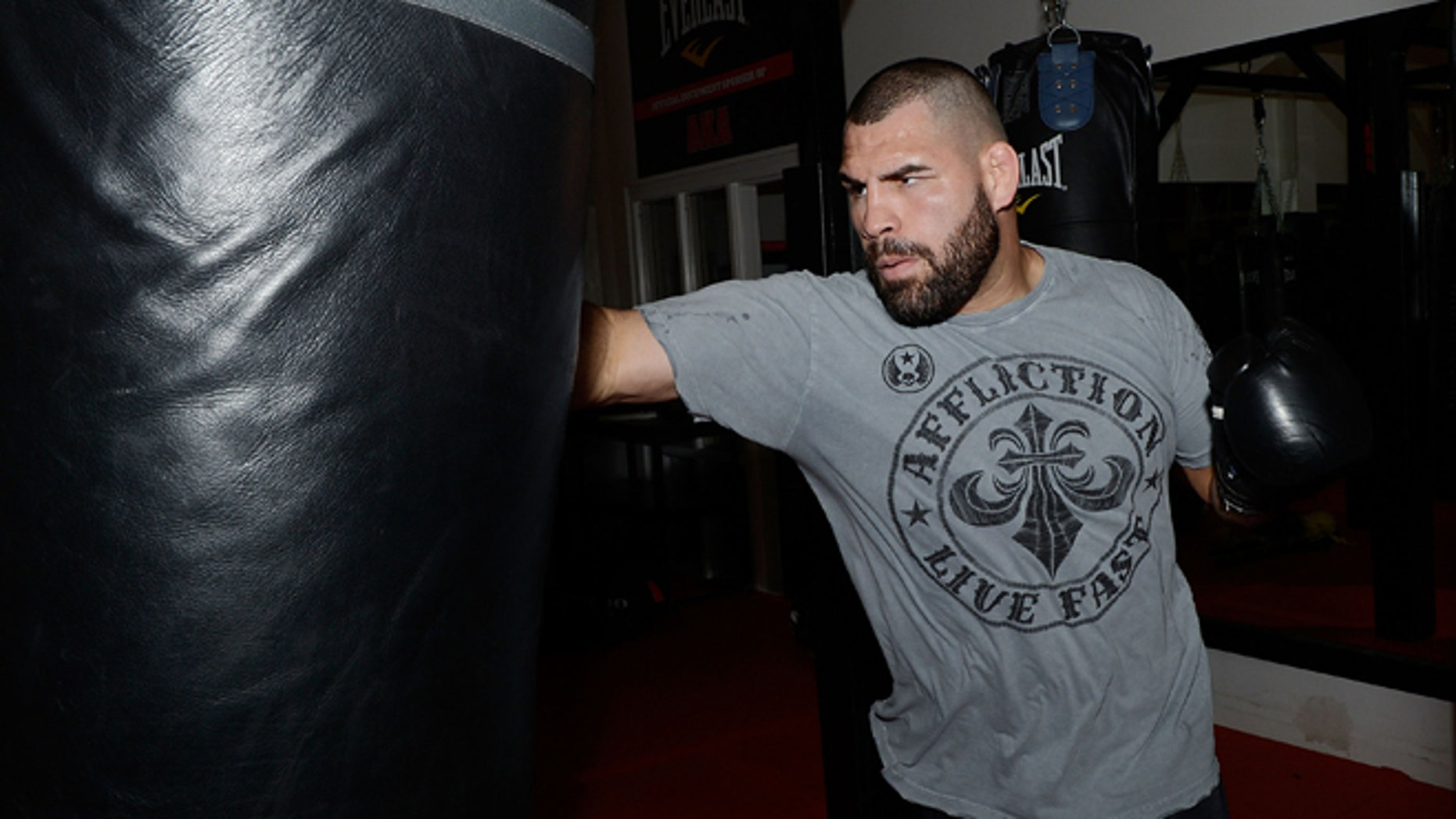 SAN JOSE, CA - FEBRUARY 15:  UFC Heavyweight Champion Cain Velasquez works out at AKA San Jose on February 15, 2013 in San Jose, California.  (Photo by Thearon W. Henderson/Getty Images)