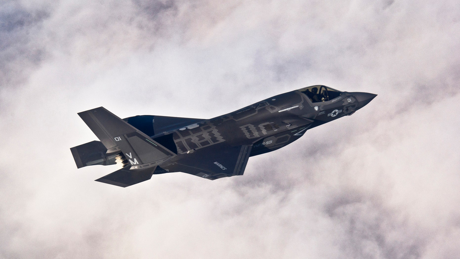 A Lockheed Martin F-35B Lightning II joint strike fighter flies toward its new home at Eglin Air Force Base, Florida in this U.S. Air Force picture.