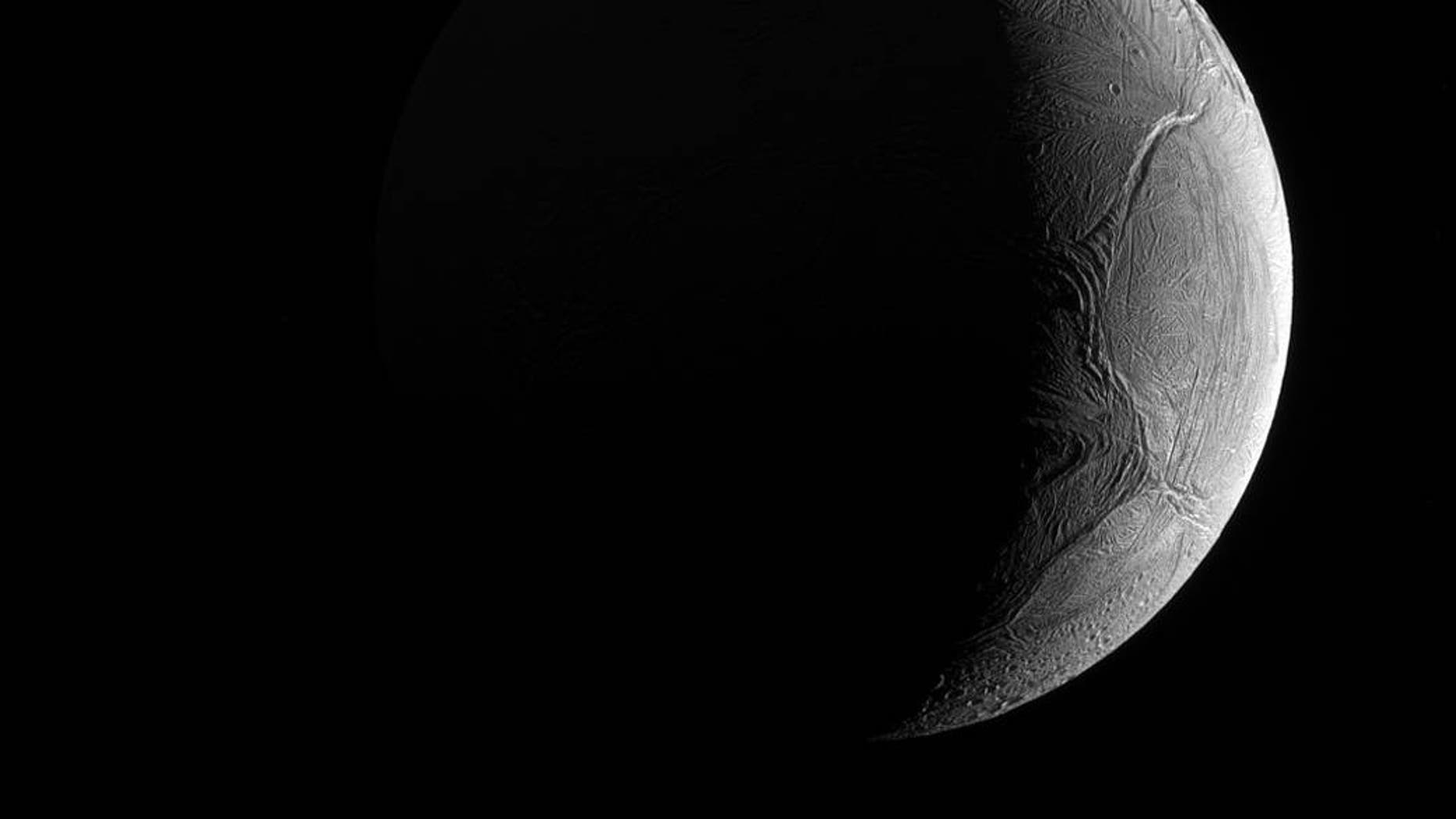 Don't judge a planet by its exterior because this moon of Saturn may just hold the potential for life within its icy shell. The Cassini spacecraft captured this image November 27, 2016 using its narrow-angle camera.