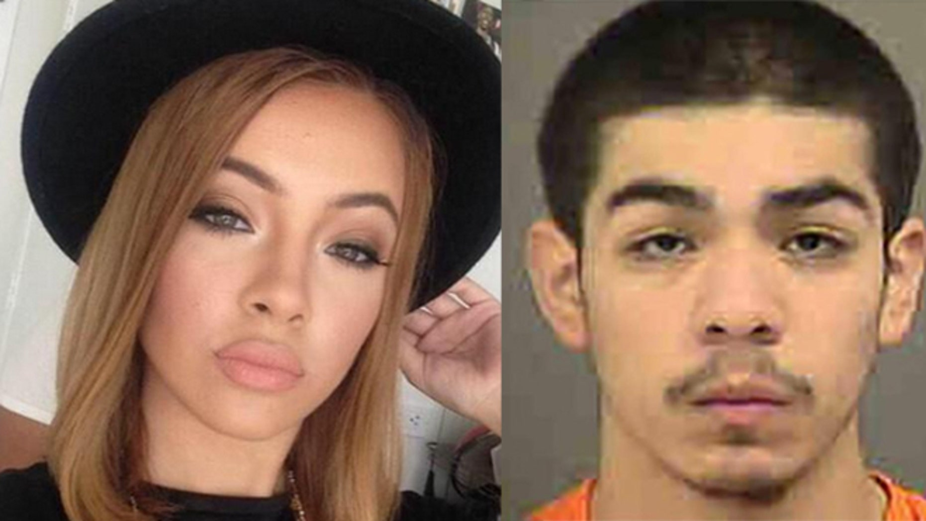 Emmanuel Jesus Rangel-Hernandez (R) is accused of killing model Mirjana Puhar (L), along with two others, on Feb. 24, 2015.