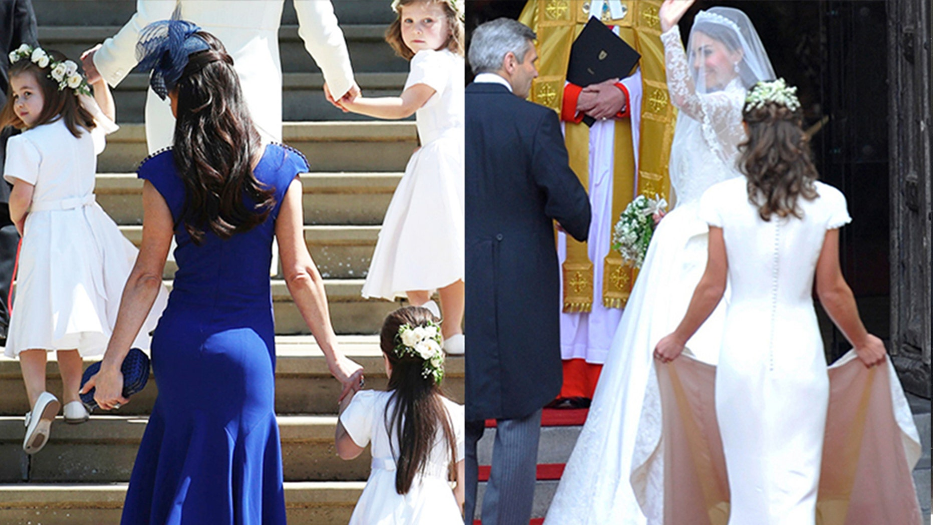 Jessica Mulroney's fitted frock is drawing comparisons to Pippa Middleton's 2011 royal wedding bridesmaid dress.