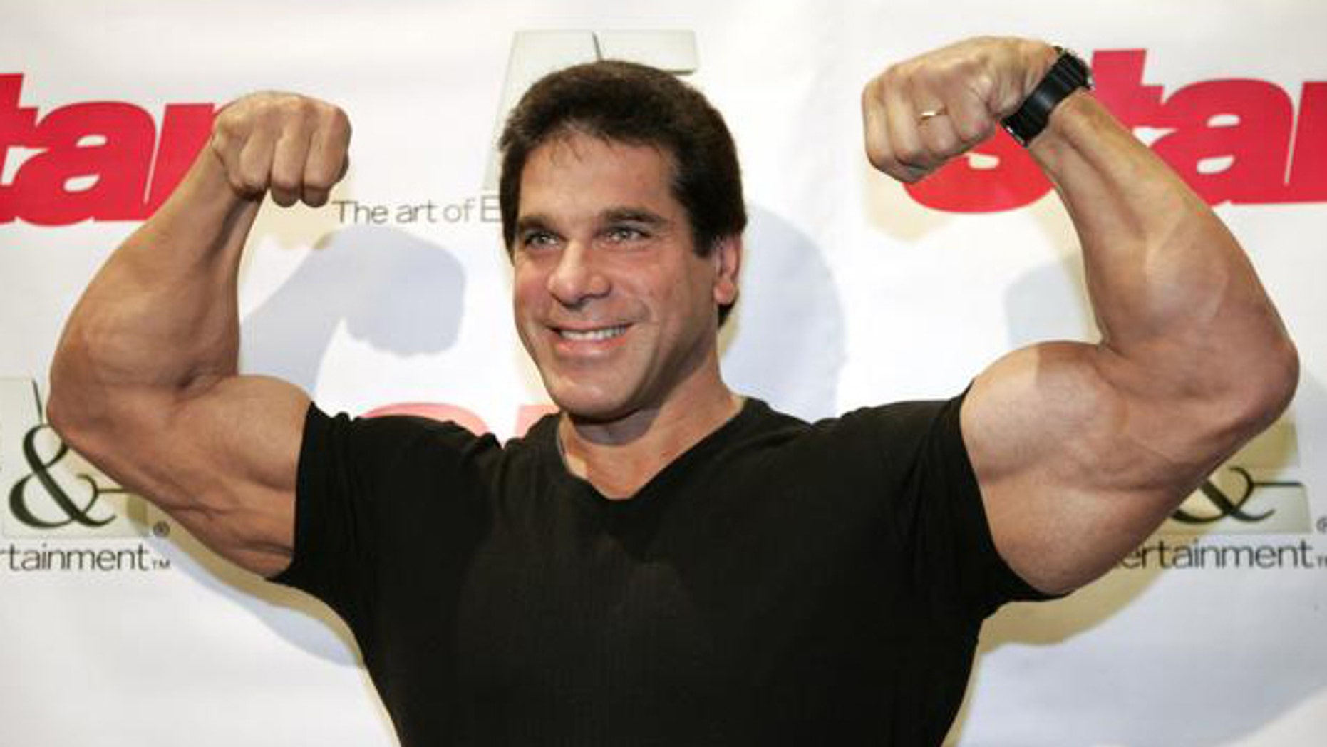 "Lou Ferrigno, star of the original ""Incredible Hulk"" television series, poses for photographers while attending  the viewing of the reality television show ""Growing up Gotti"" Tuesday, July 27, 2004 in New York. (AP Photo/Julie Jacobson)"