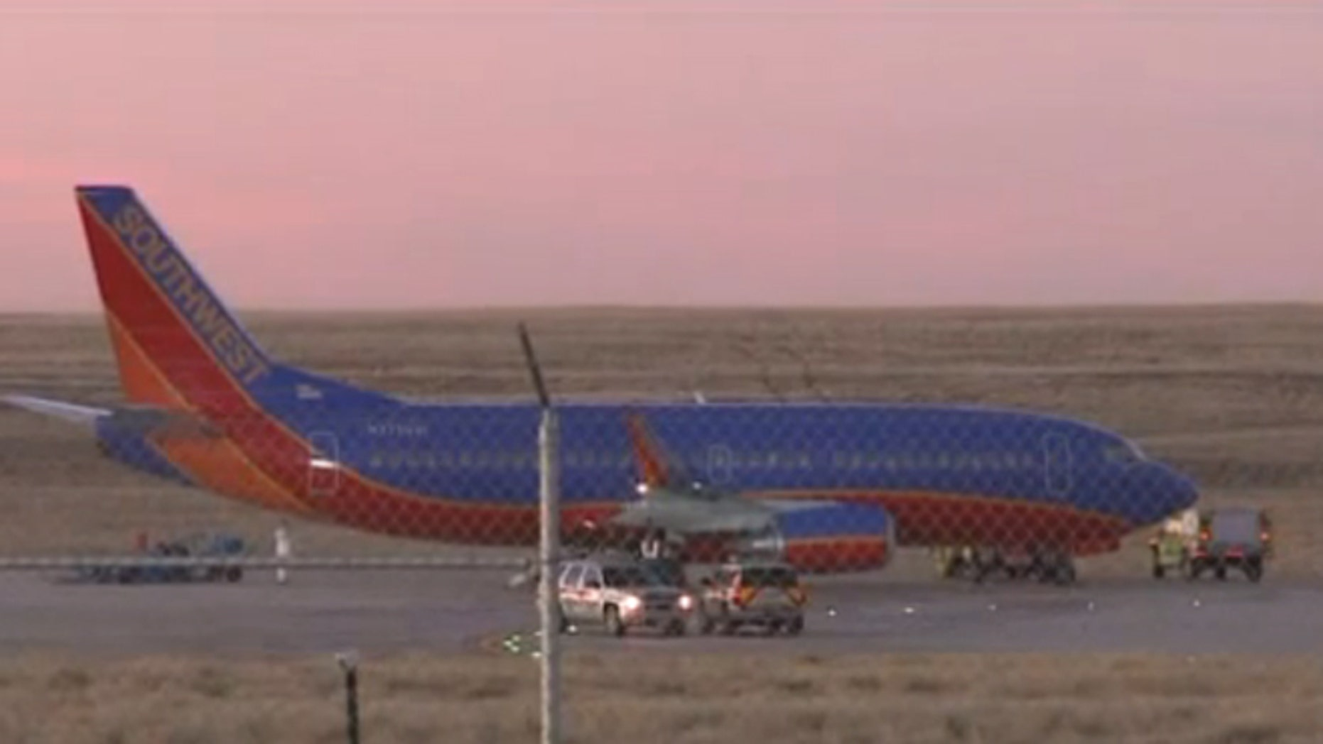 A Southwest Airlines plane was forced to abort takeoff after its warning light began to flash.