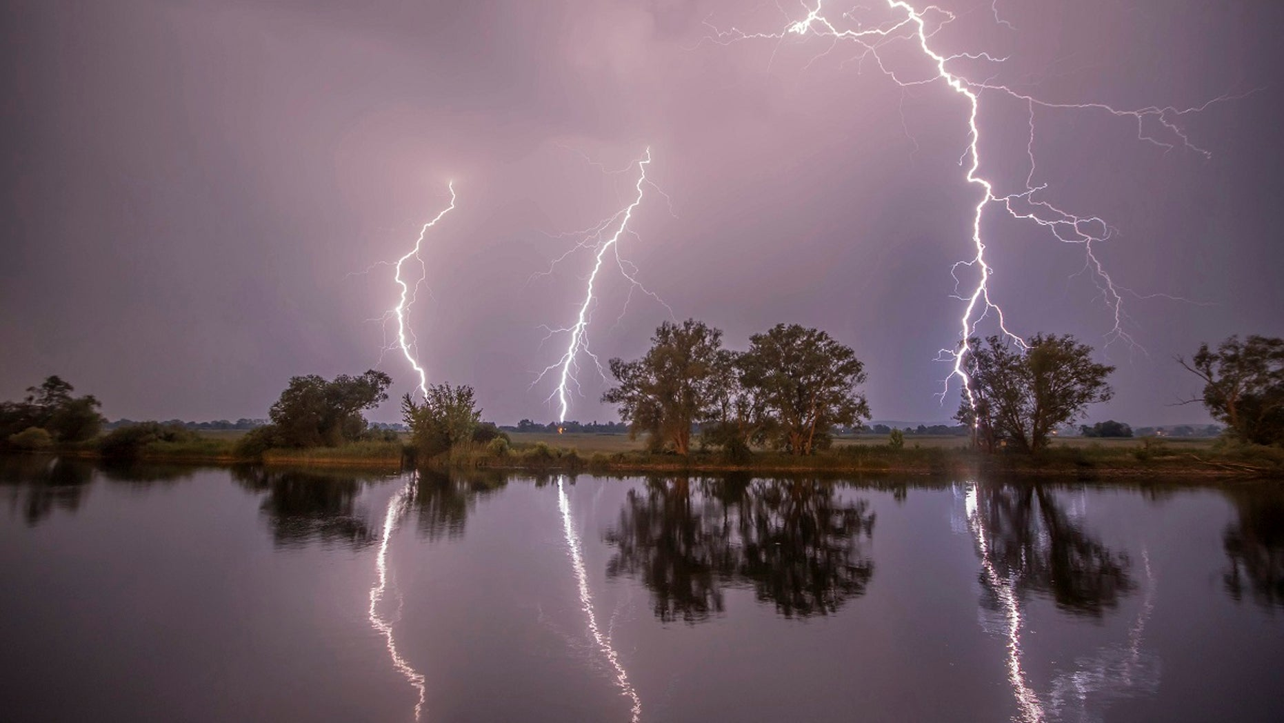 Two young women were seriously injured Sunday after lightning struck them while they were taking selfies in western Germany.