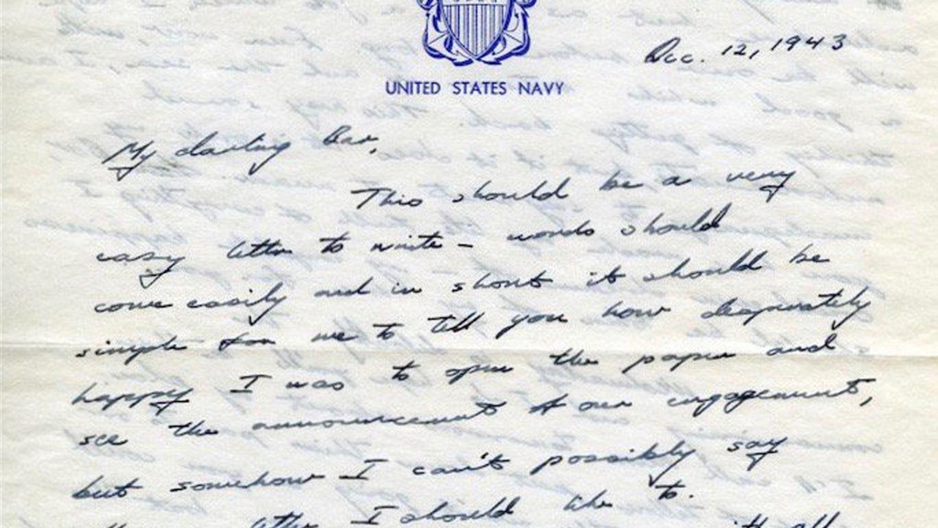 Former President George H.W. Bush sent Barbara a love letter that she kept in her scrapbook.